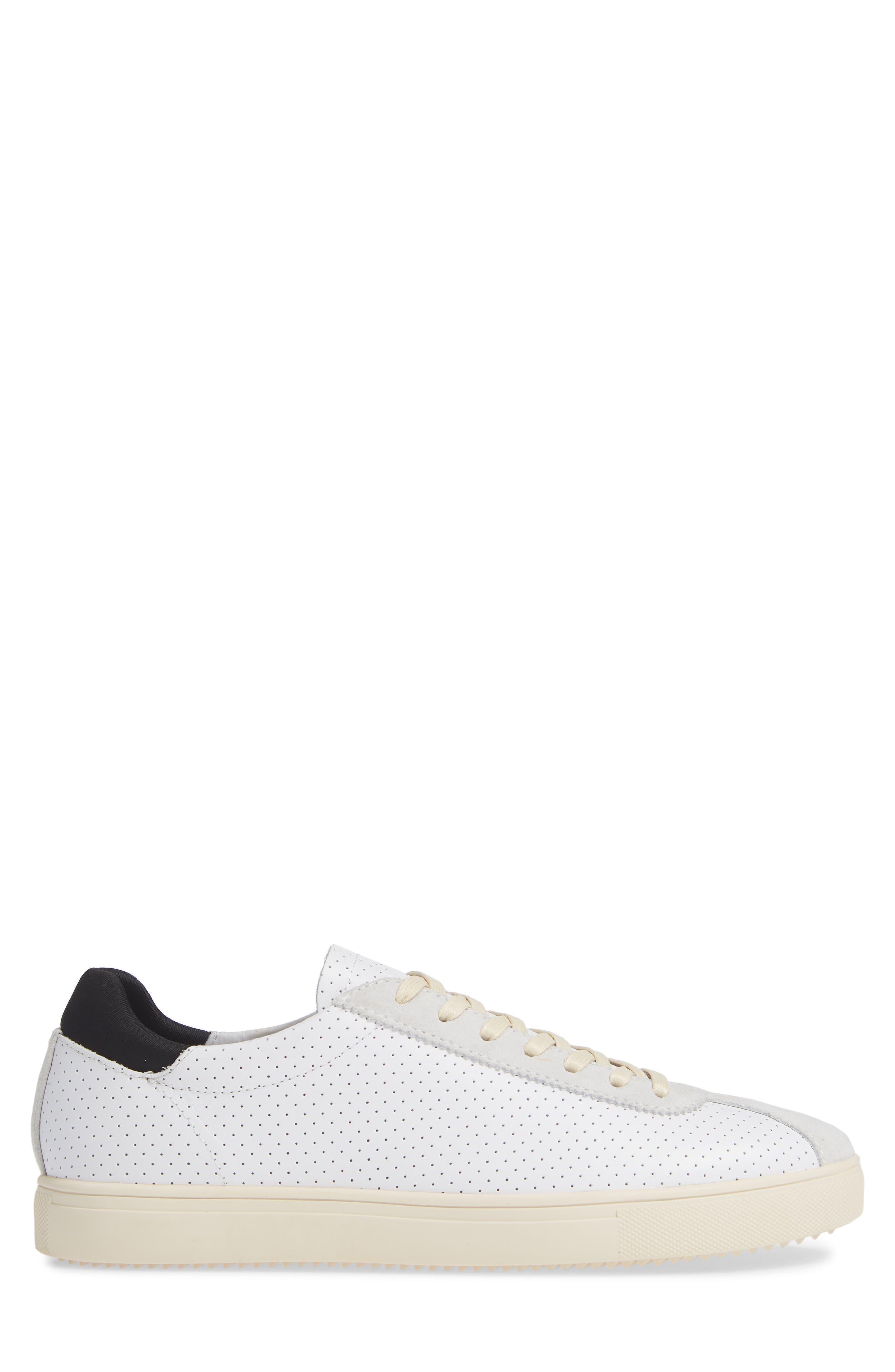 Noah Sneaker,                             Alternate thumbnail 3, color,                             WHITE LEATHER SUEDE CREAM
