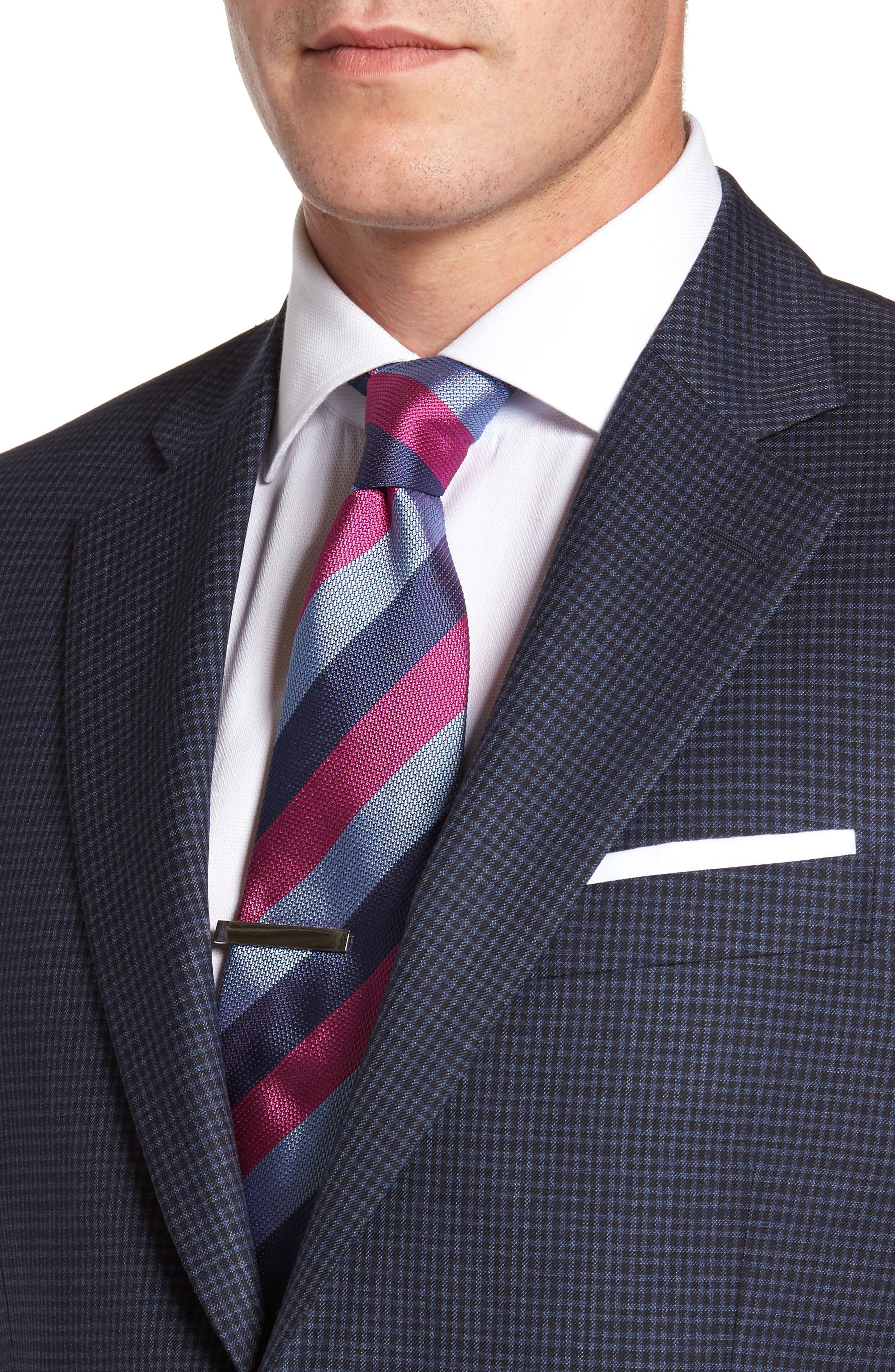 Flynn Classic Fit Check Wool Sport Coat,                             Alternate thumbnail 4, color,                             410