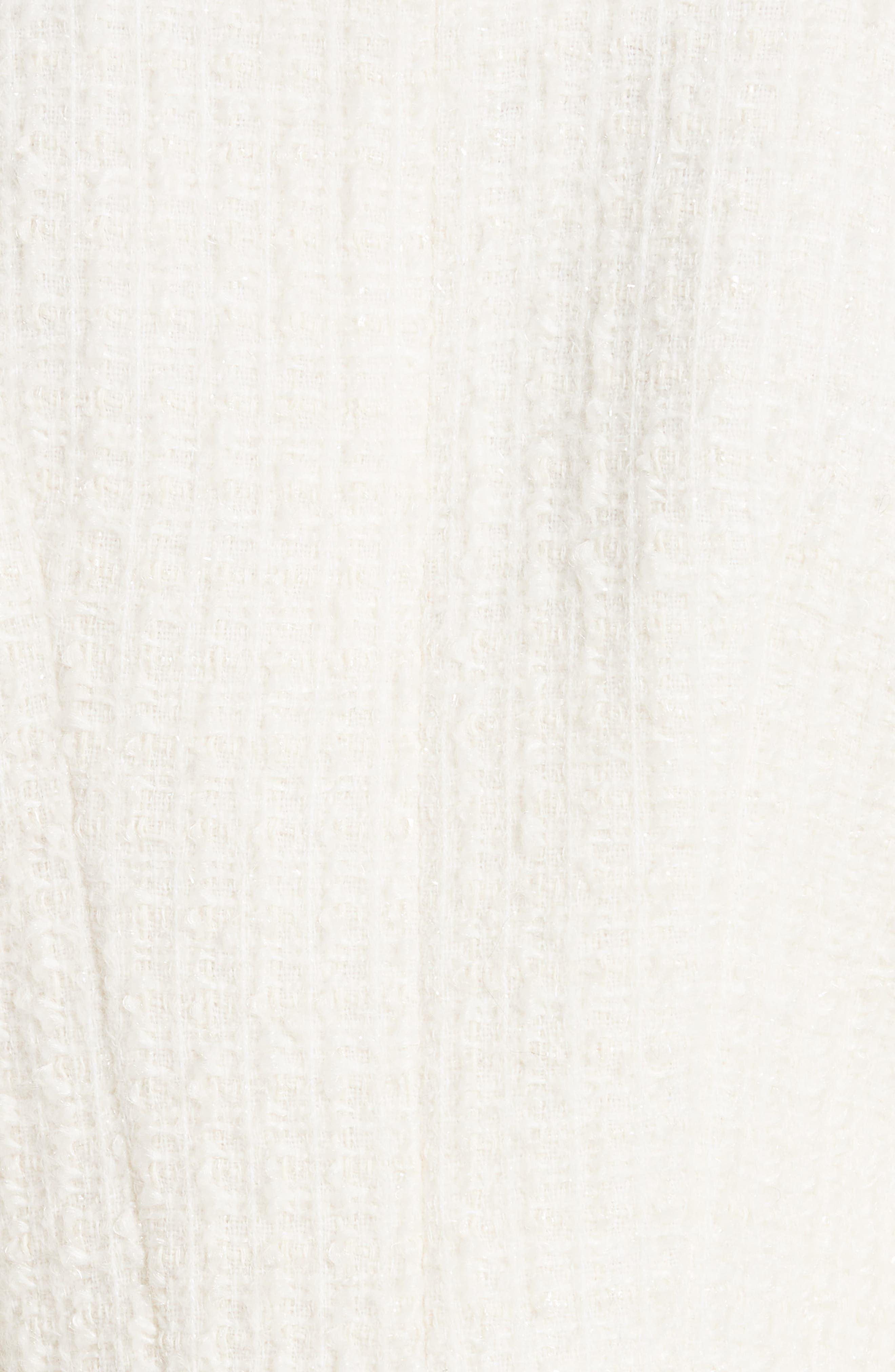 ALEXANDER WANG,                             Zip Detail Tweed Jacket,                             Alternate thumbnail 7, color,                             IVORY