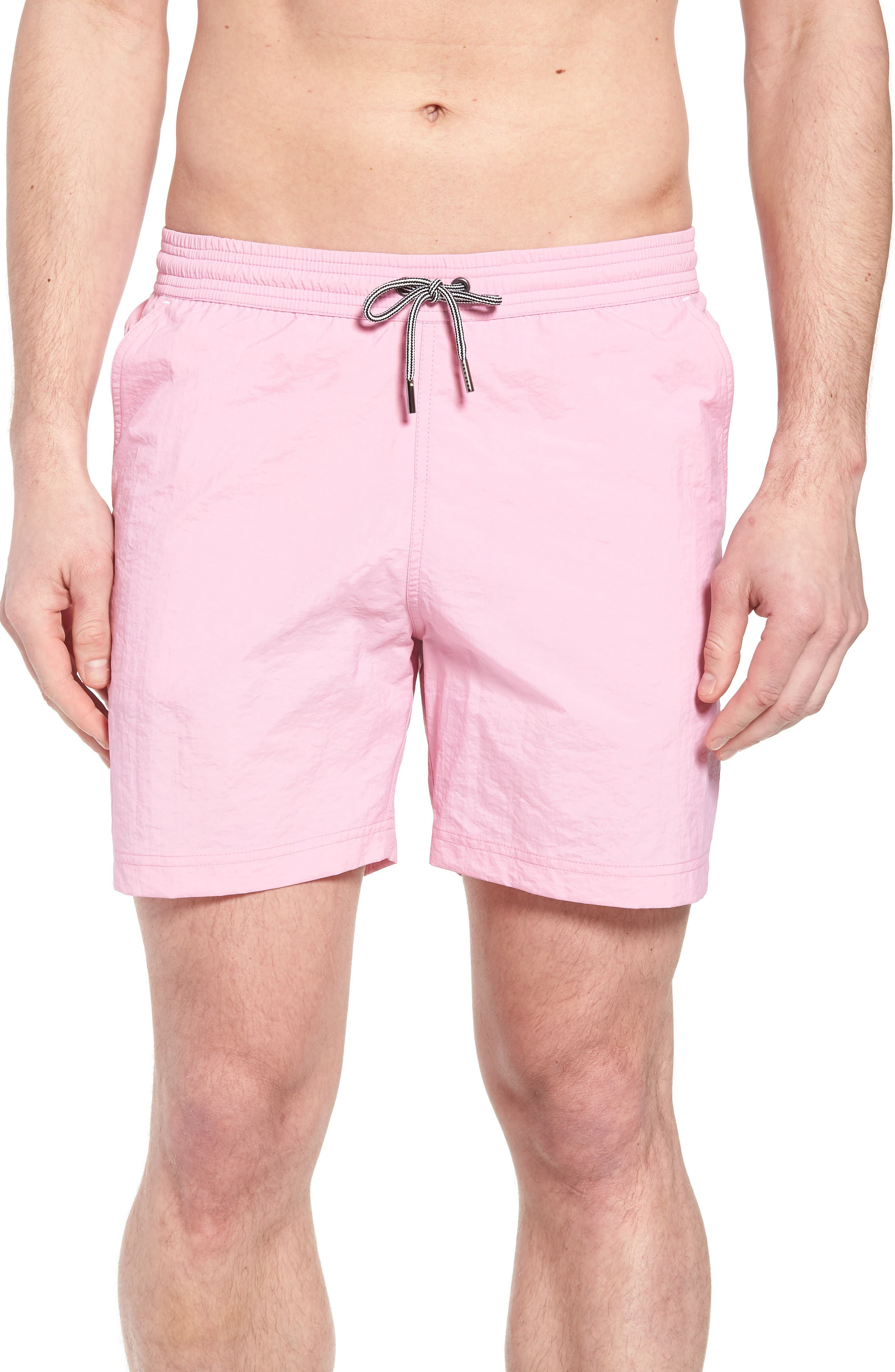 Solid Swim Trunks,                             Main thumbnail 5, color,