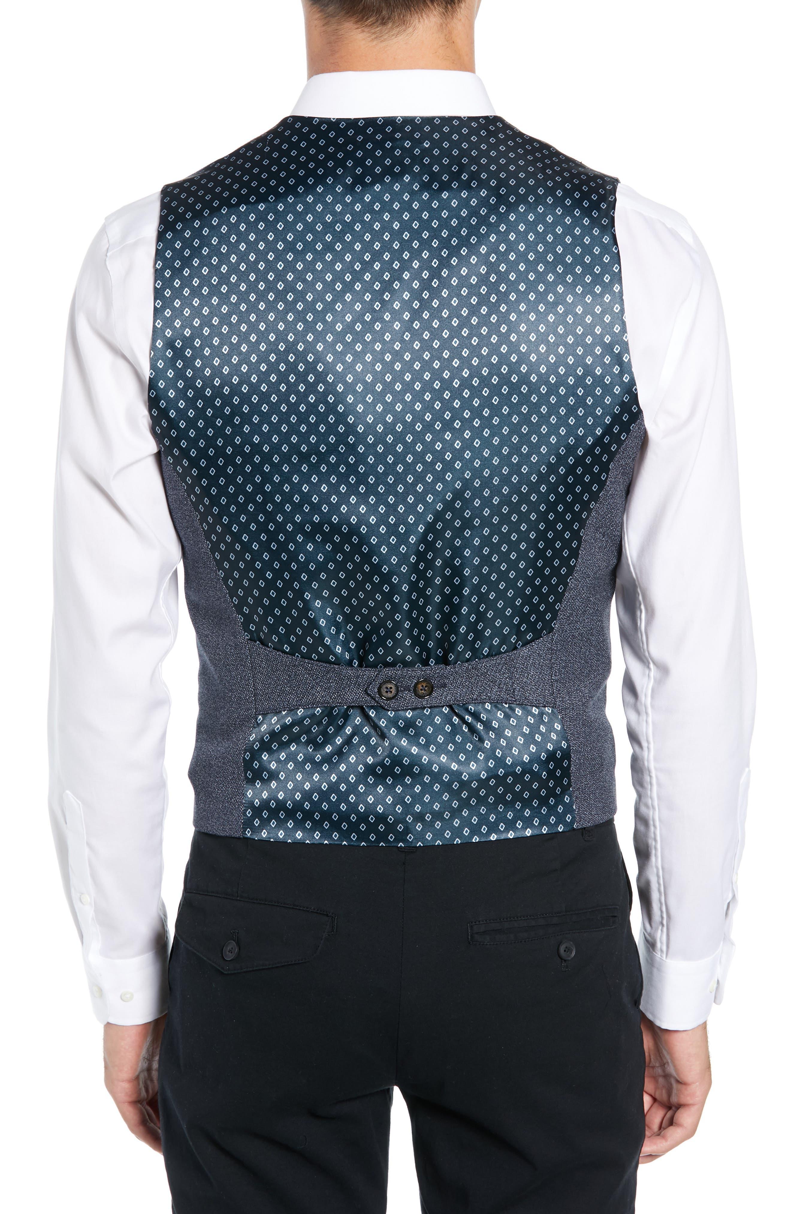 Slim Fit Bufwai Twill Vest,                             Alternate thumbnail 2, color,                             BLUE