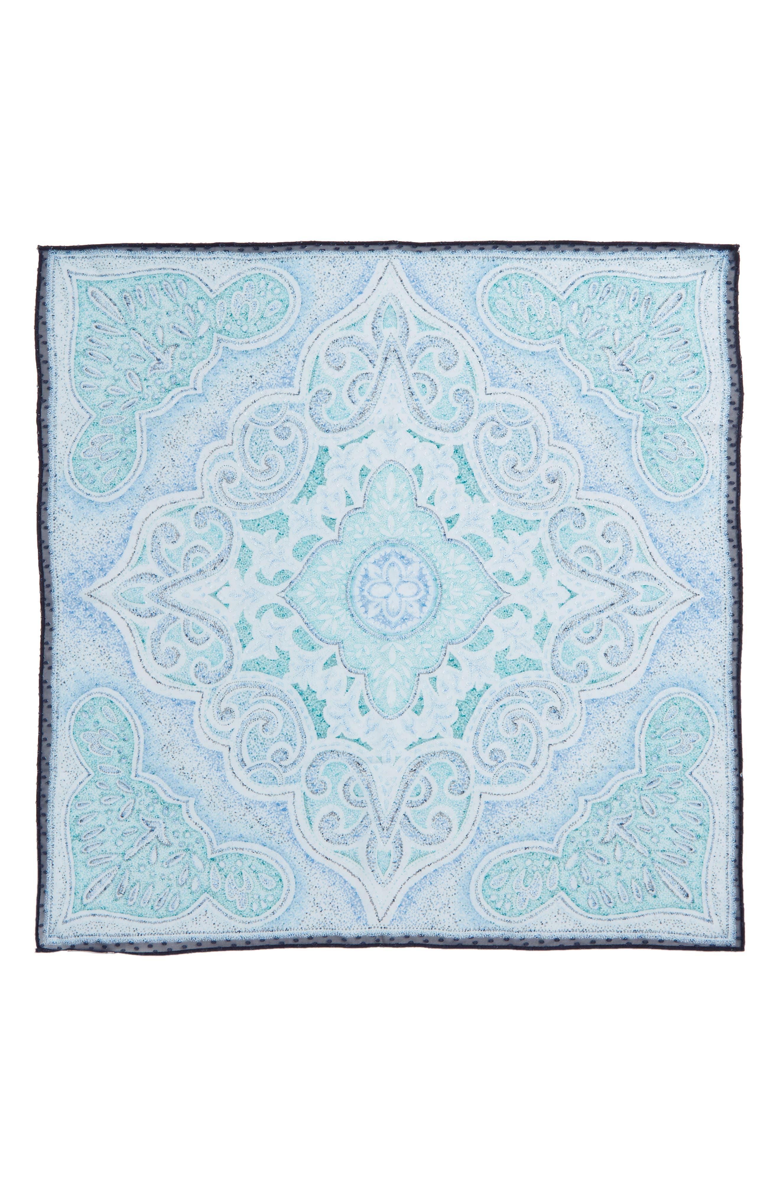 Jacquard Dot Silk Blend Scarf,                             Alternate thumbnail 8, color,