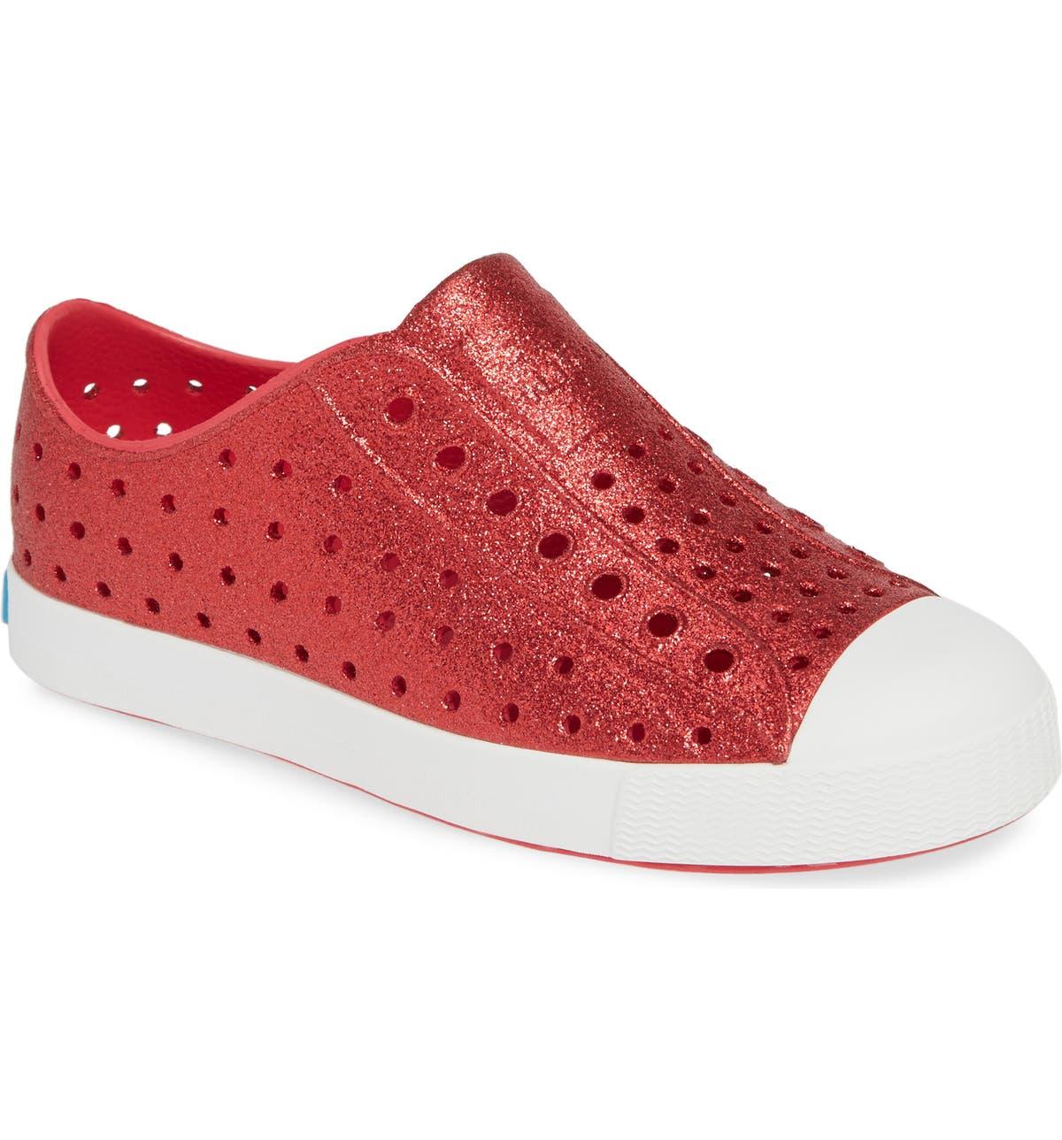 Native Shoes Jefferson Bling Glitter Slip-On Vegan Sneaker (Baby ... d36cc5f325fb