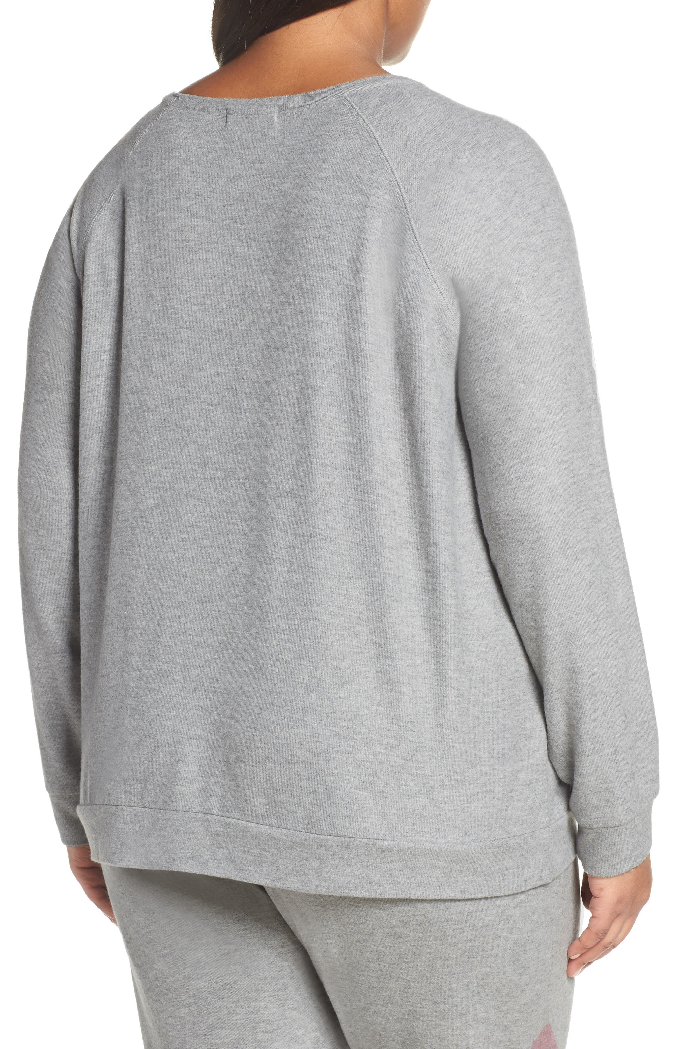 Lounge Essentials Chevron Pullover,                             Alternate thumbnail 2, color,                             HEATHER GREY