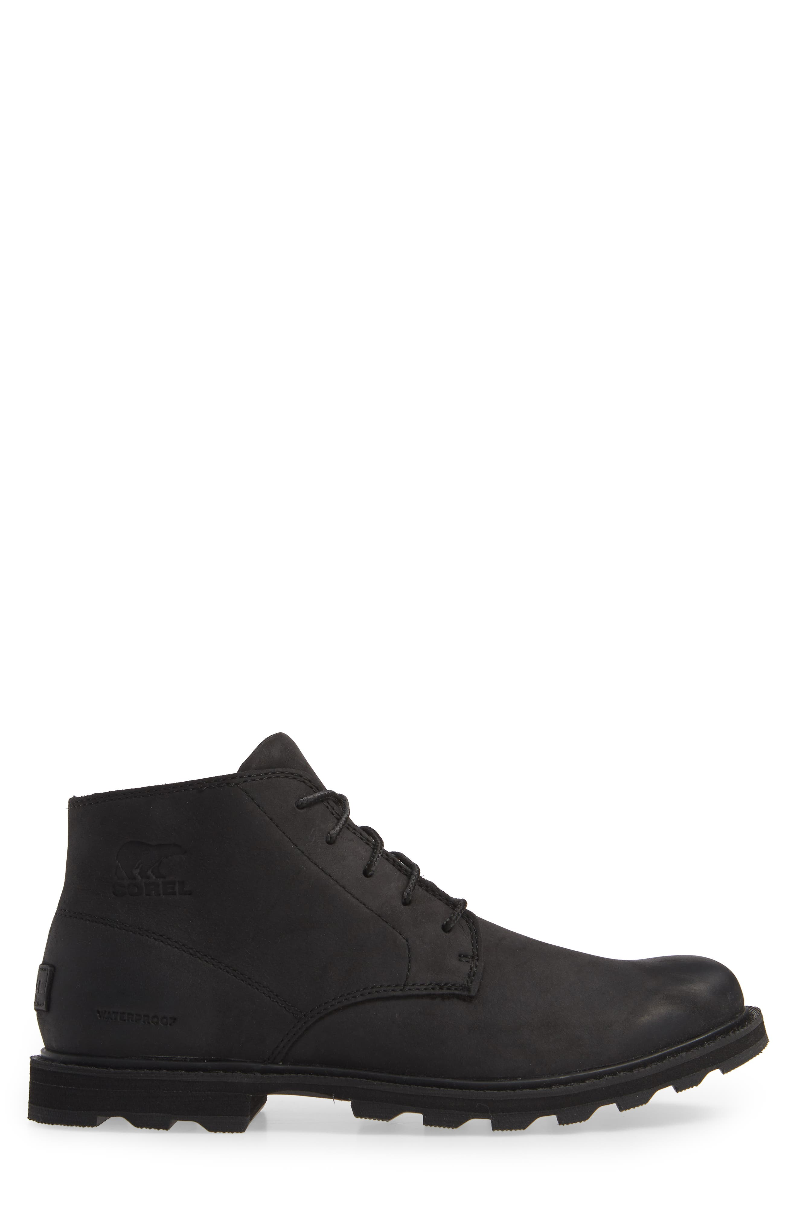 Madson Waterproof Boot,                             Alternate thumbnail 3, color,                             BLACK/ BLACK