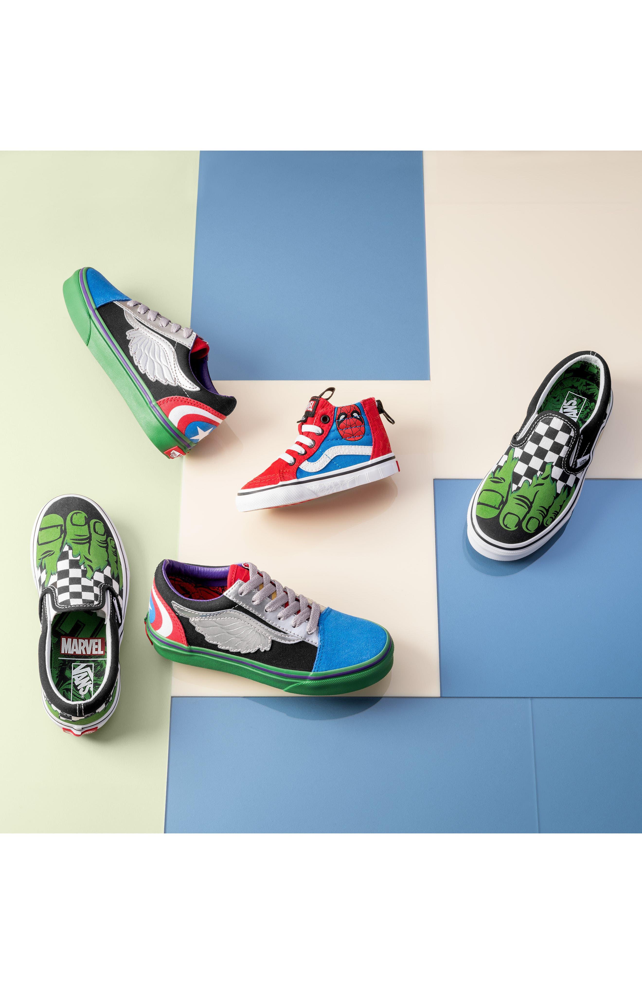 x Marvel<sup>®</sup> Spider-Man SK8-Hi Sneaker,                             Alternate thumbnail 7, color,                             610