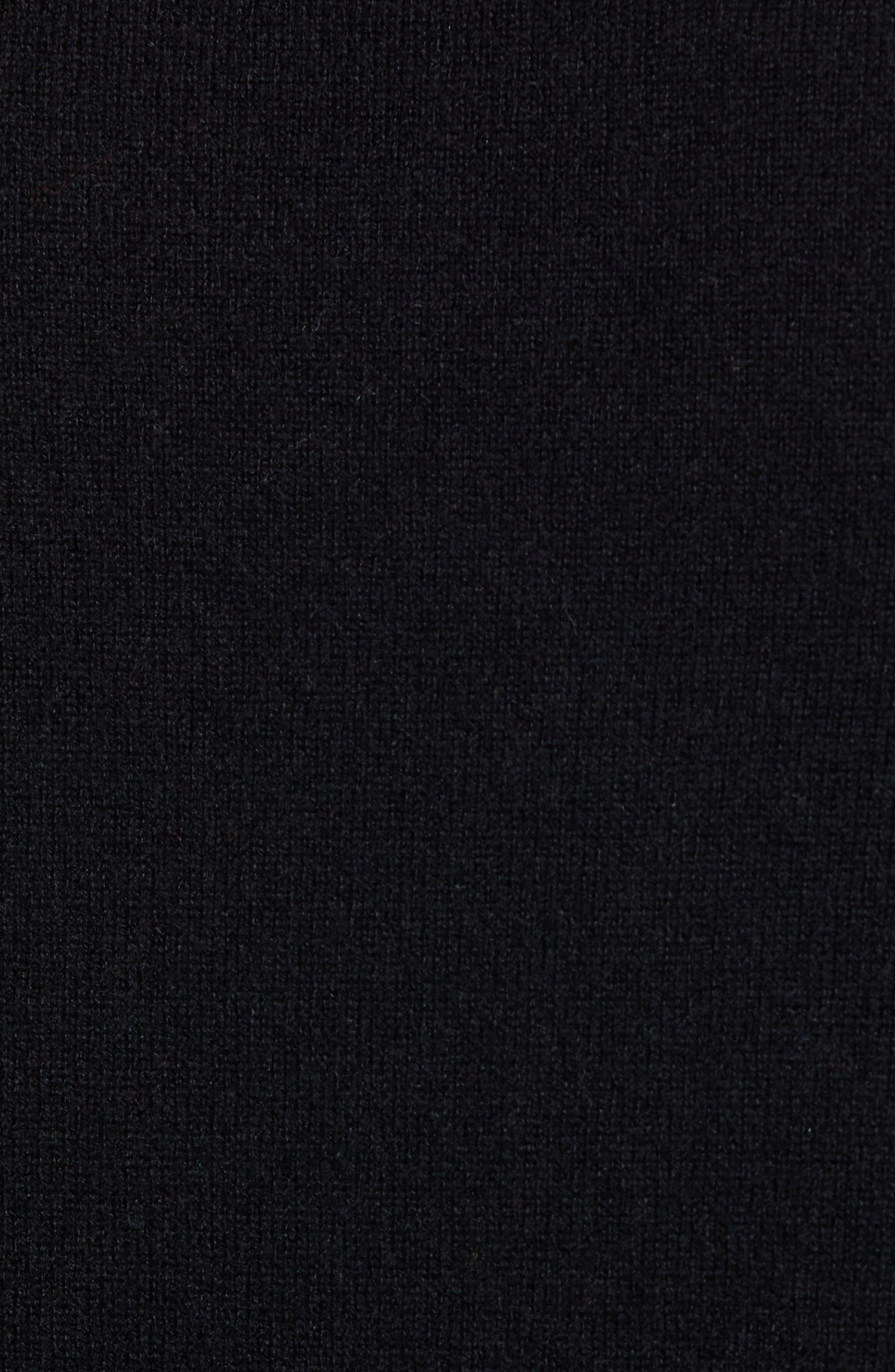 Regular Fit Wool & Cashmere Sweater,                             Alternate thumbnail 5, color,                             BLACK CAVIAR