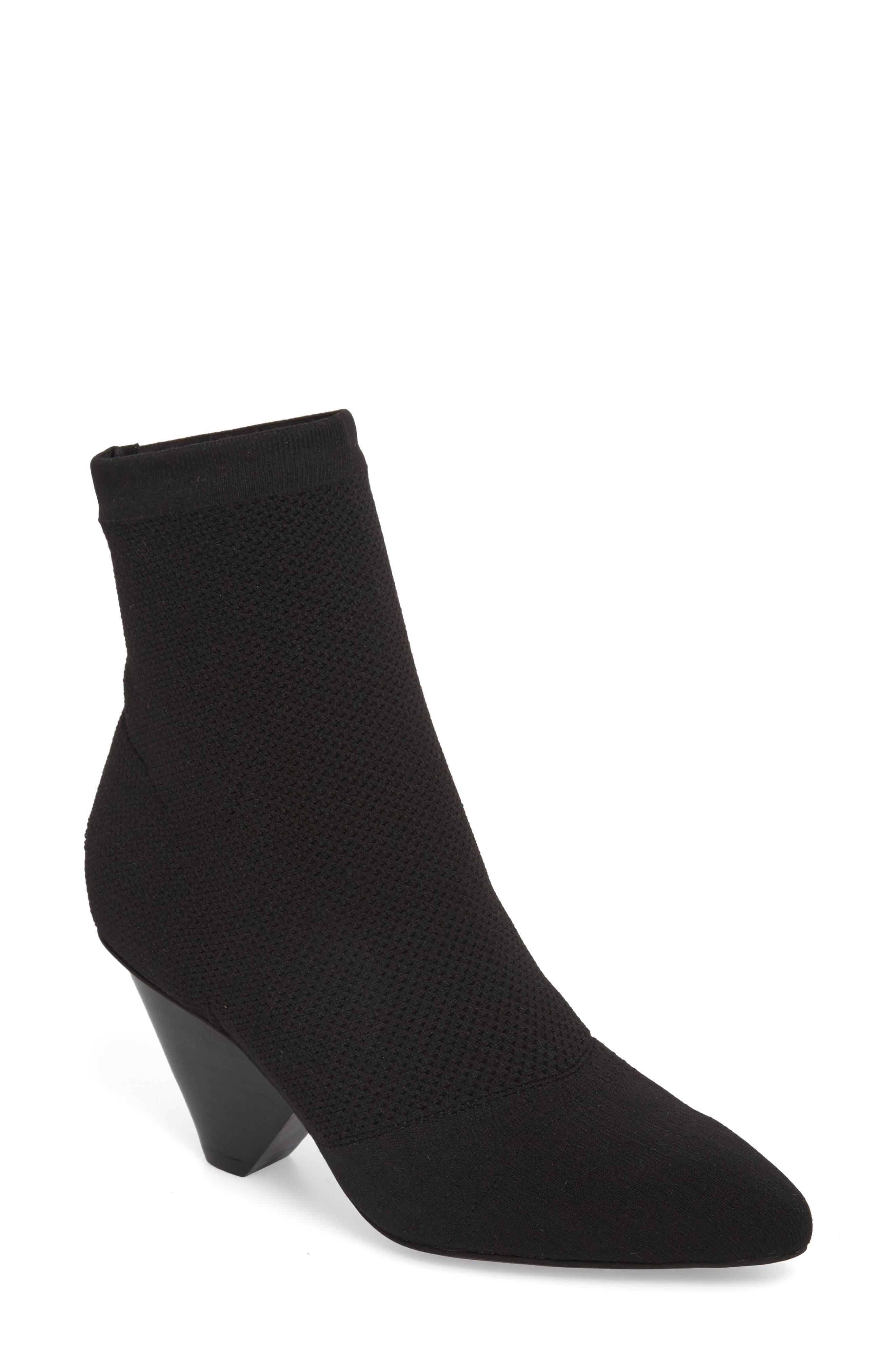 Acadia 2 Sock Bootie,                             Main thumbnail 1, color,                             BLACK WOVEN