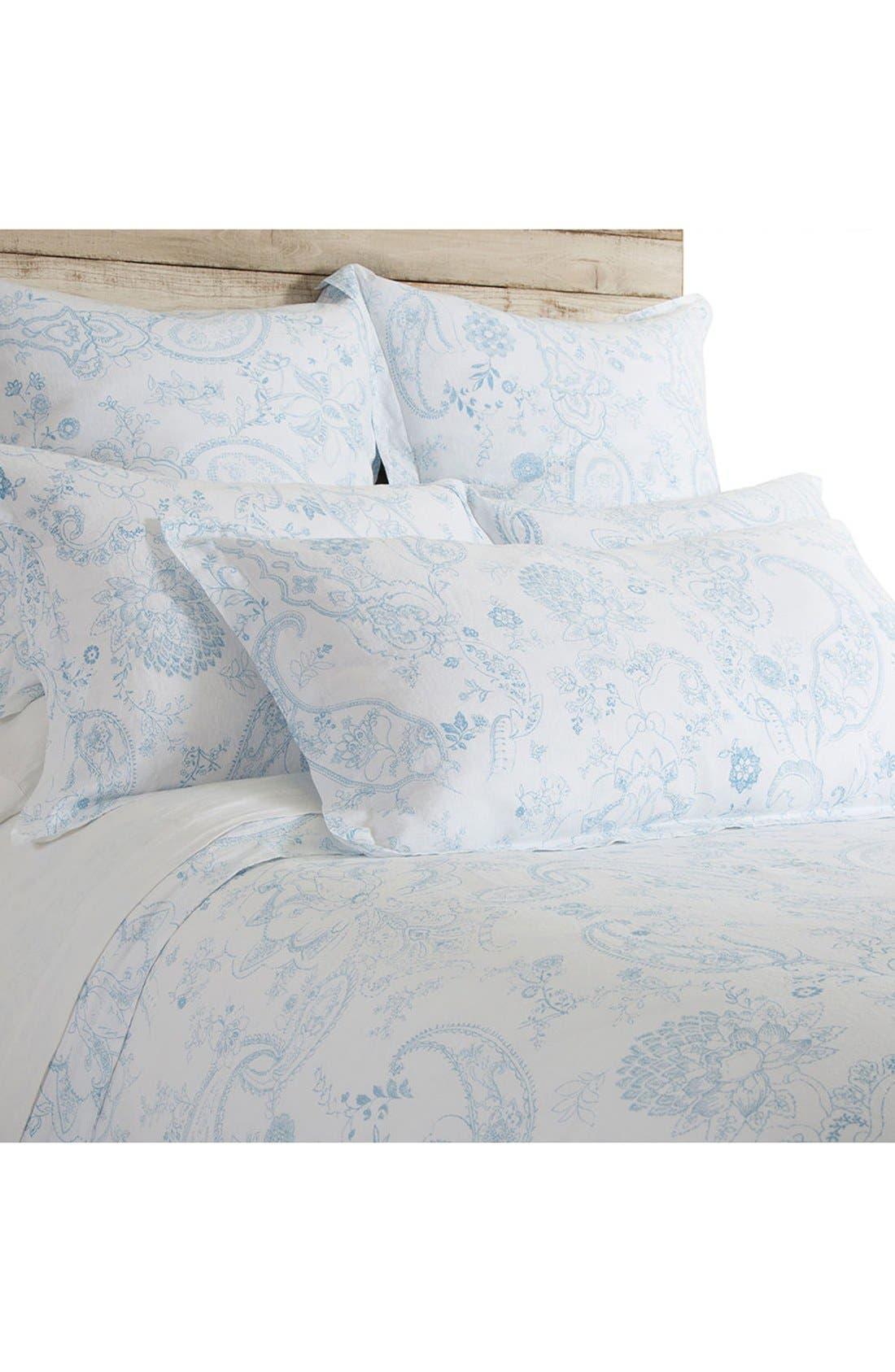Maya Duvet Cover,                         Main,                         color, BLUE/ WHITE