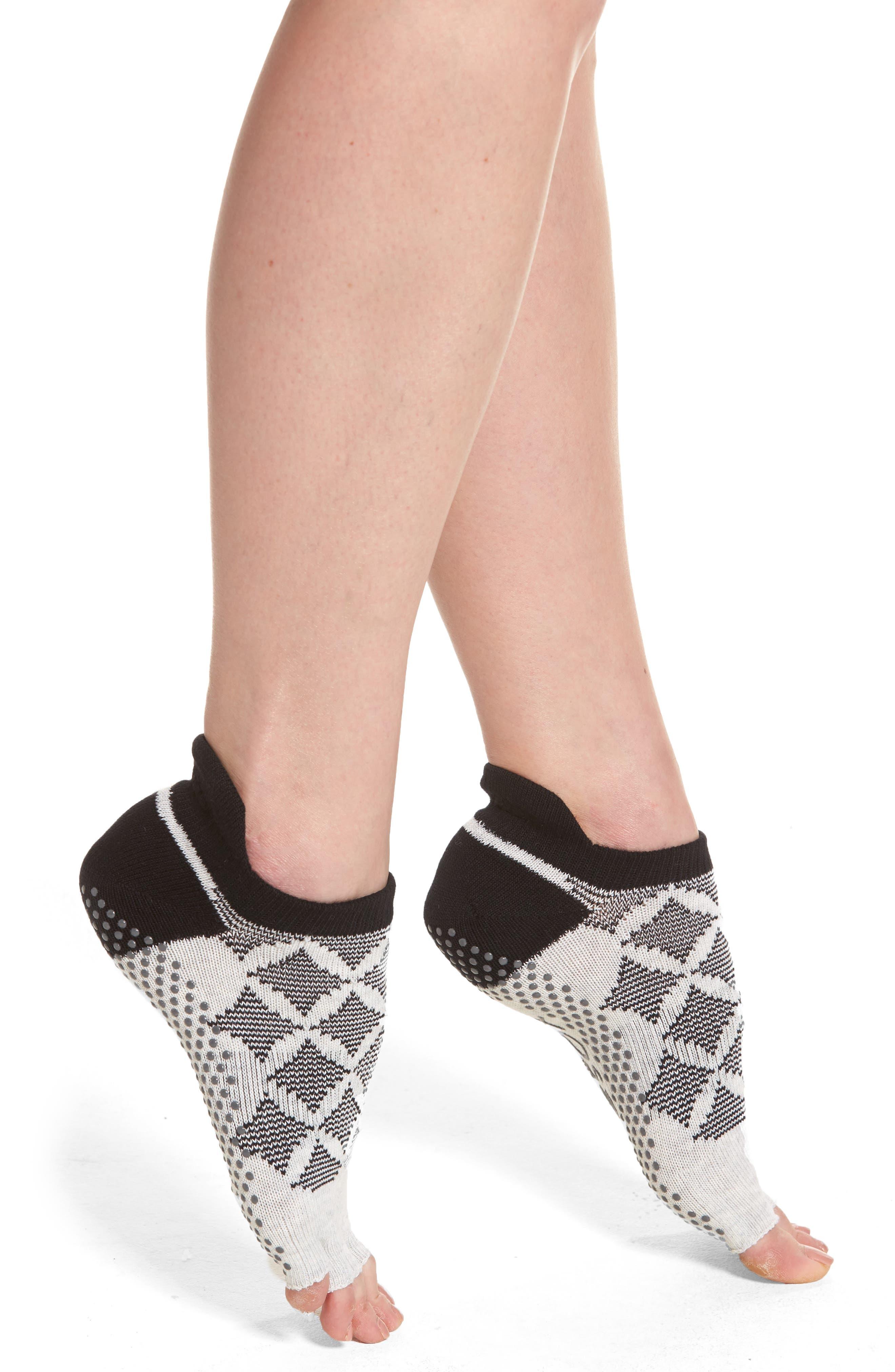 Low Rise Half Toe Gripper Socks,                             Main thumbnail 1, color,                             001