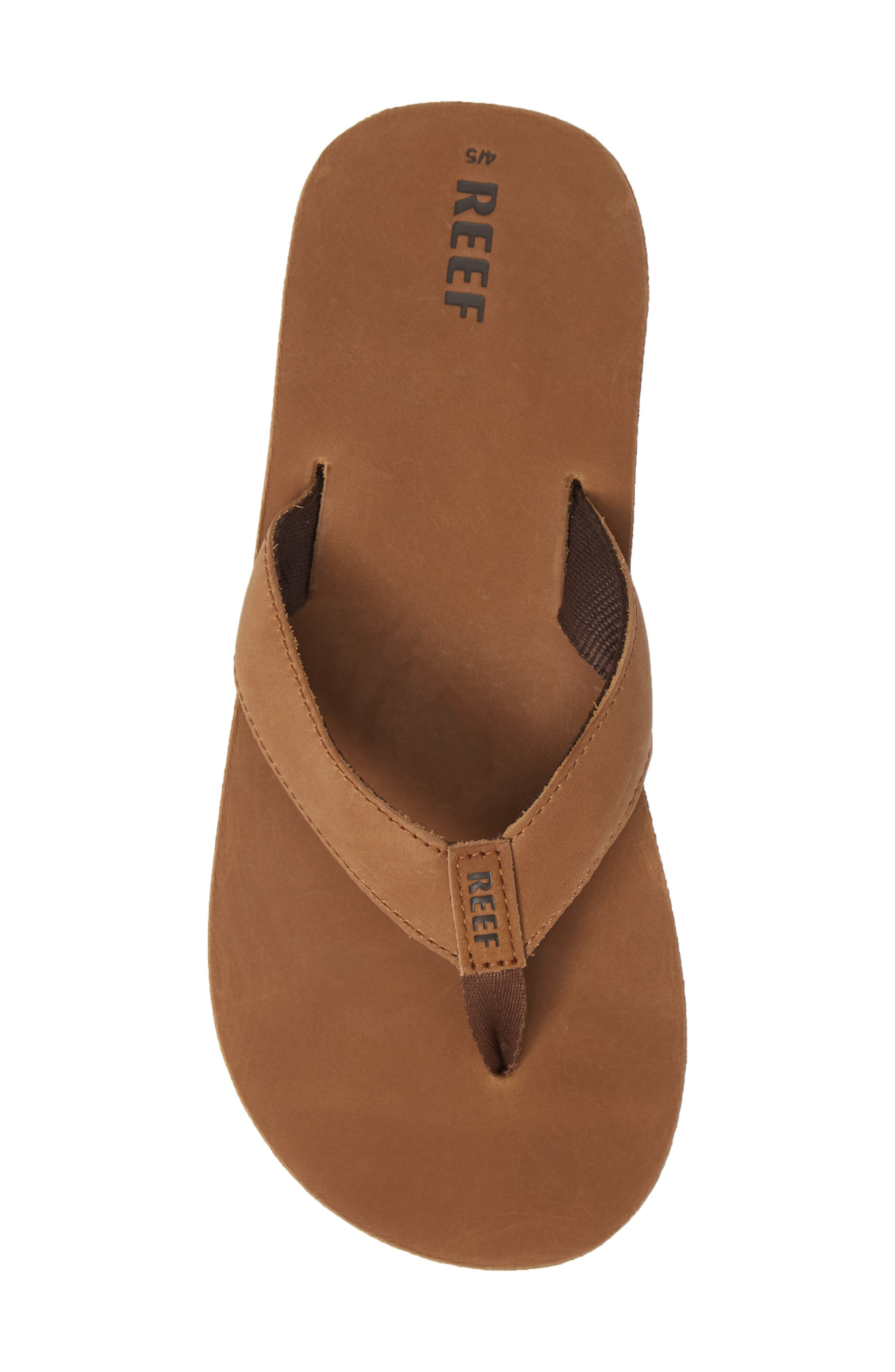 'Grom' Leather Flip-Flop,                             Alternate thumbnail 5, color,                             200