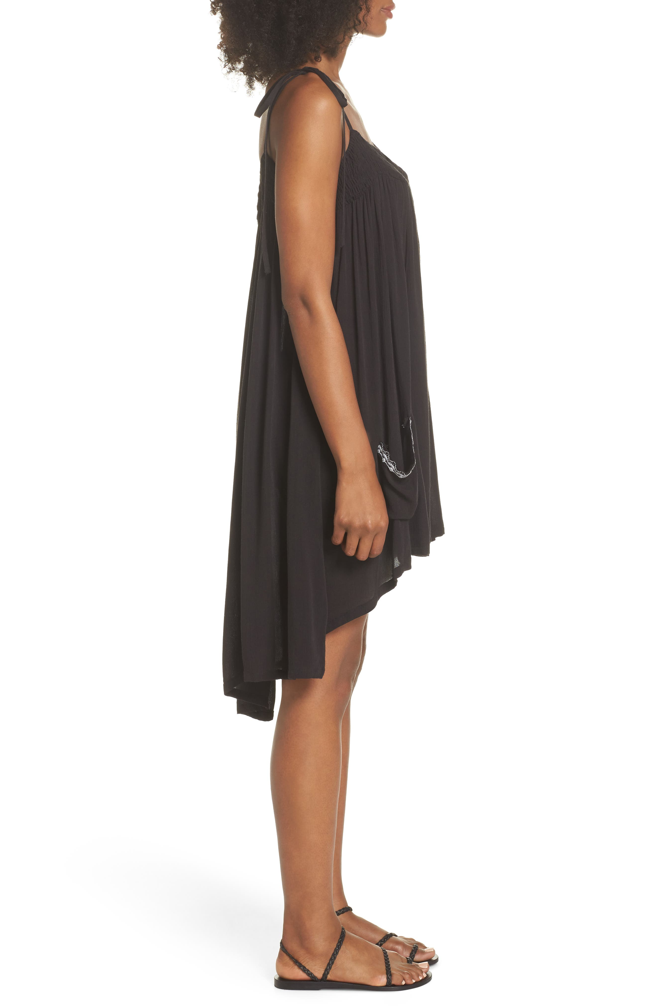Olivia Cover-Up Dress,                             Alternate thumbnail 2, color,                             BLACK/ SILVER