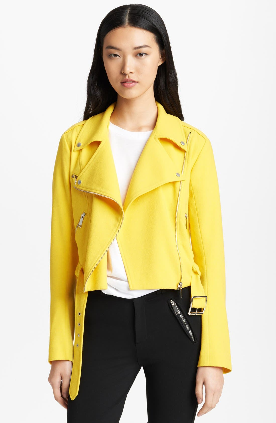 Wool Crepe Biker Jacket,                             Main thumbnail 1, color,                             700