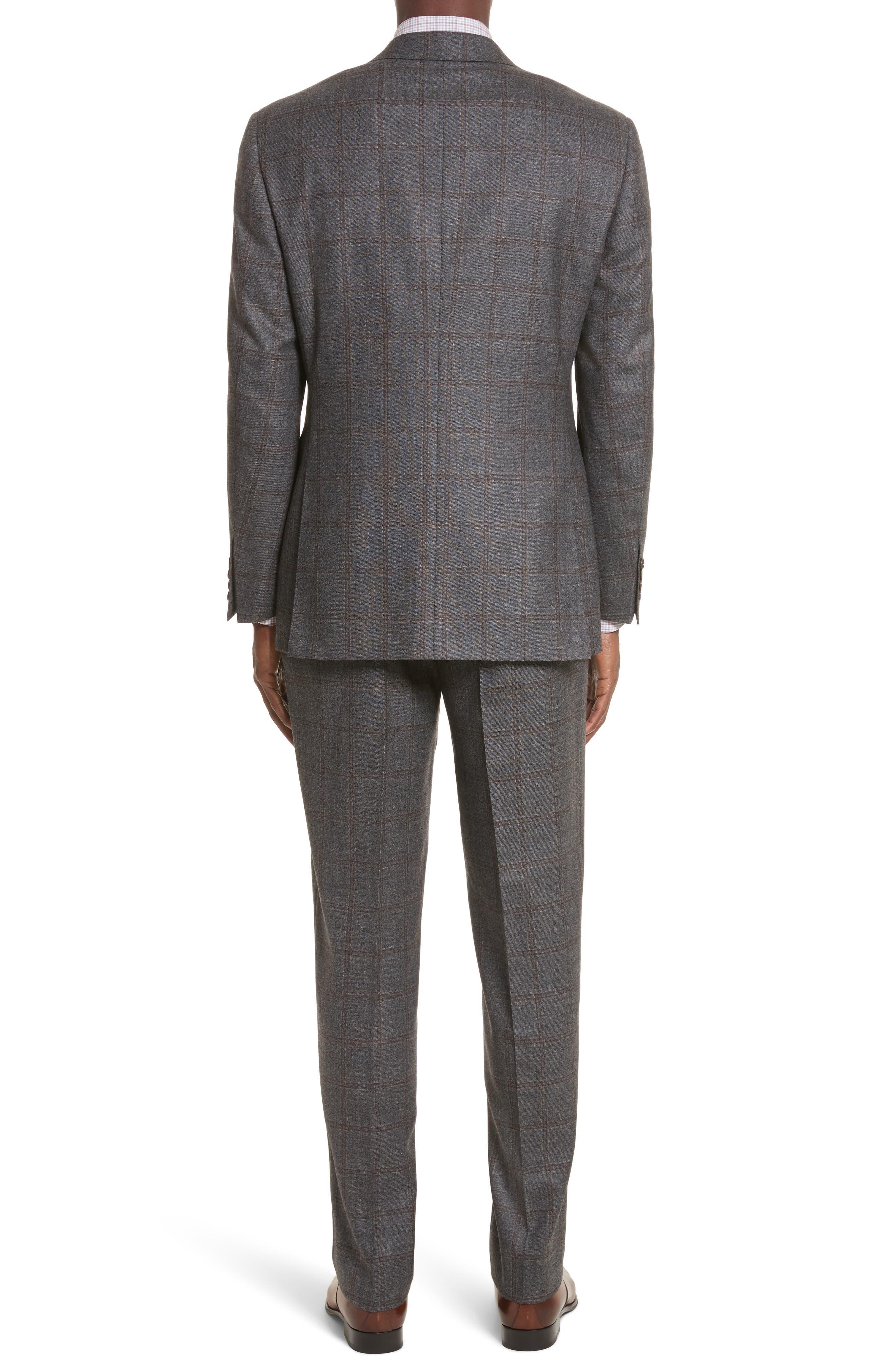 Classic Fit Plaid Wool Suit,                             Alternate thumbnail 2, color,                             030