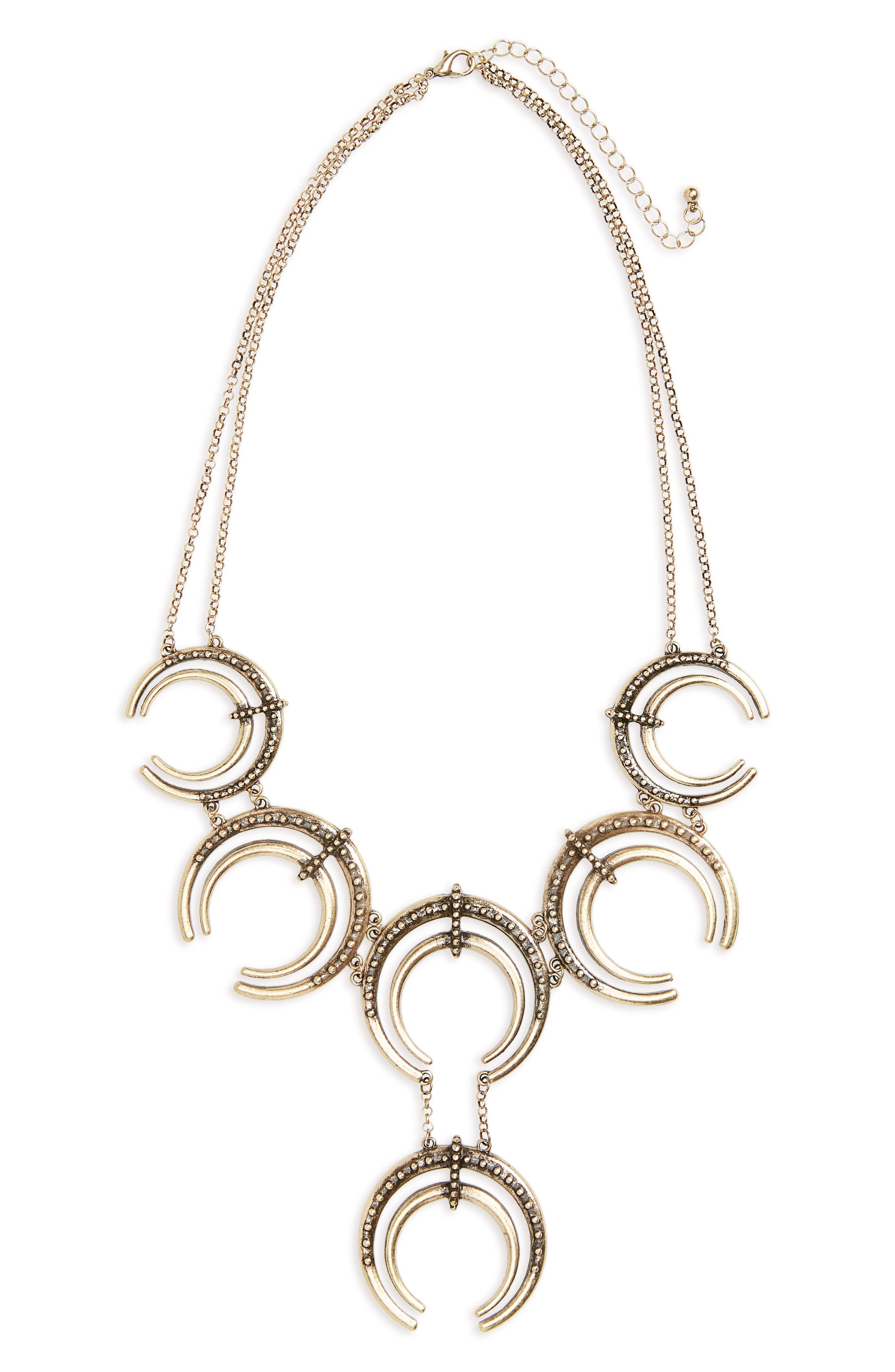 Horn Statement Necklace,                         Main,                         color, 710