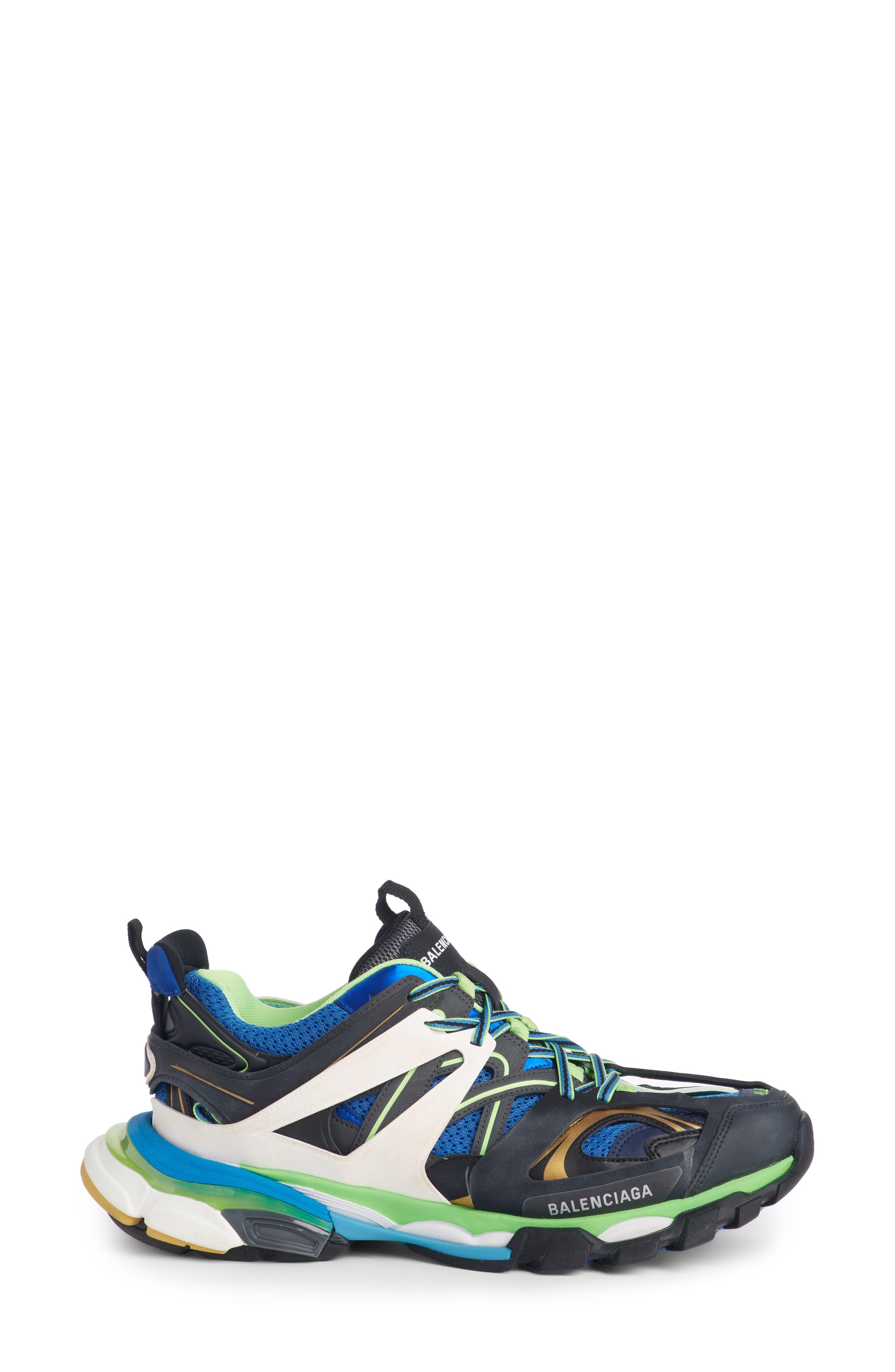 Track Sneaker,                             Alternate thumbnail 3, color,                             BLUE/ GREEN