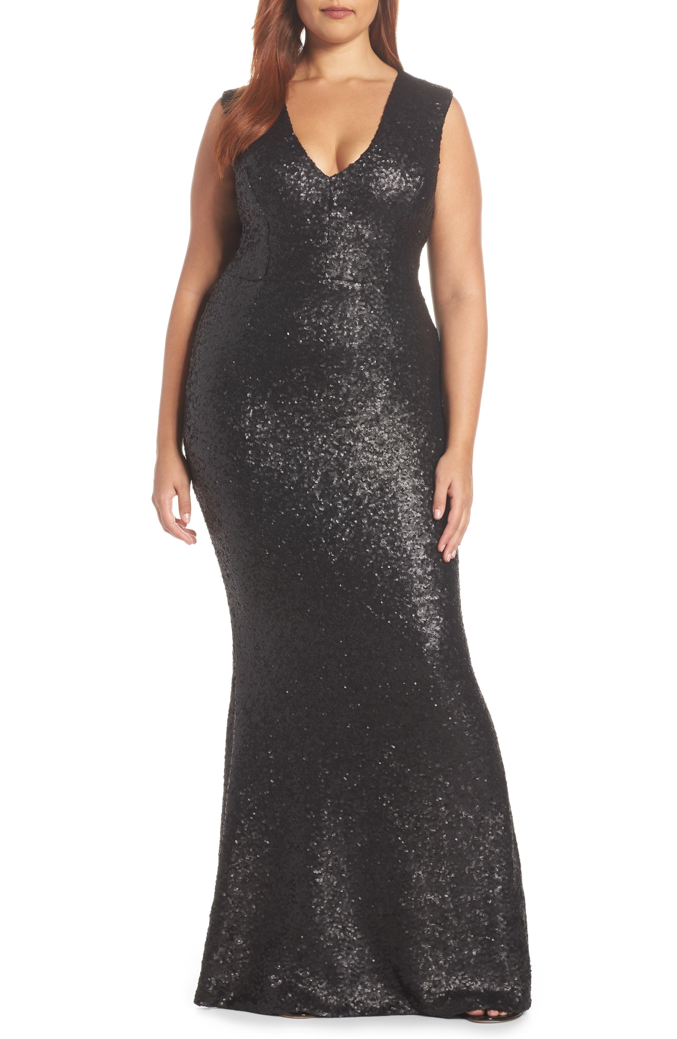 Karina Plunge Mermaid Gown,                             Alternate thumbnail 2, color,                             MATTE BLACK