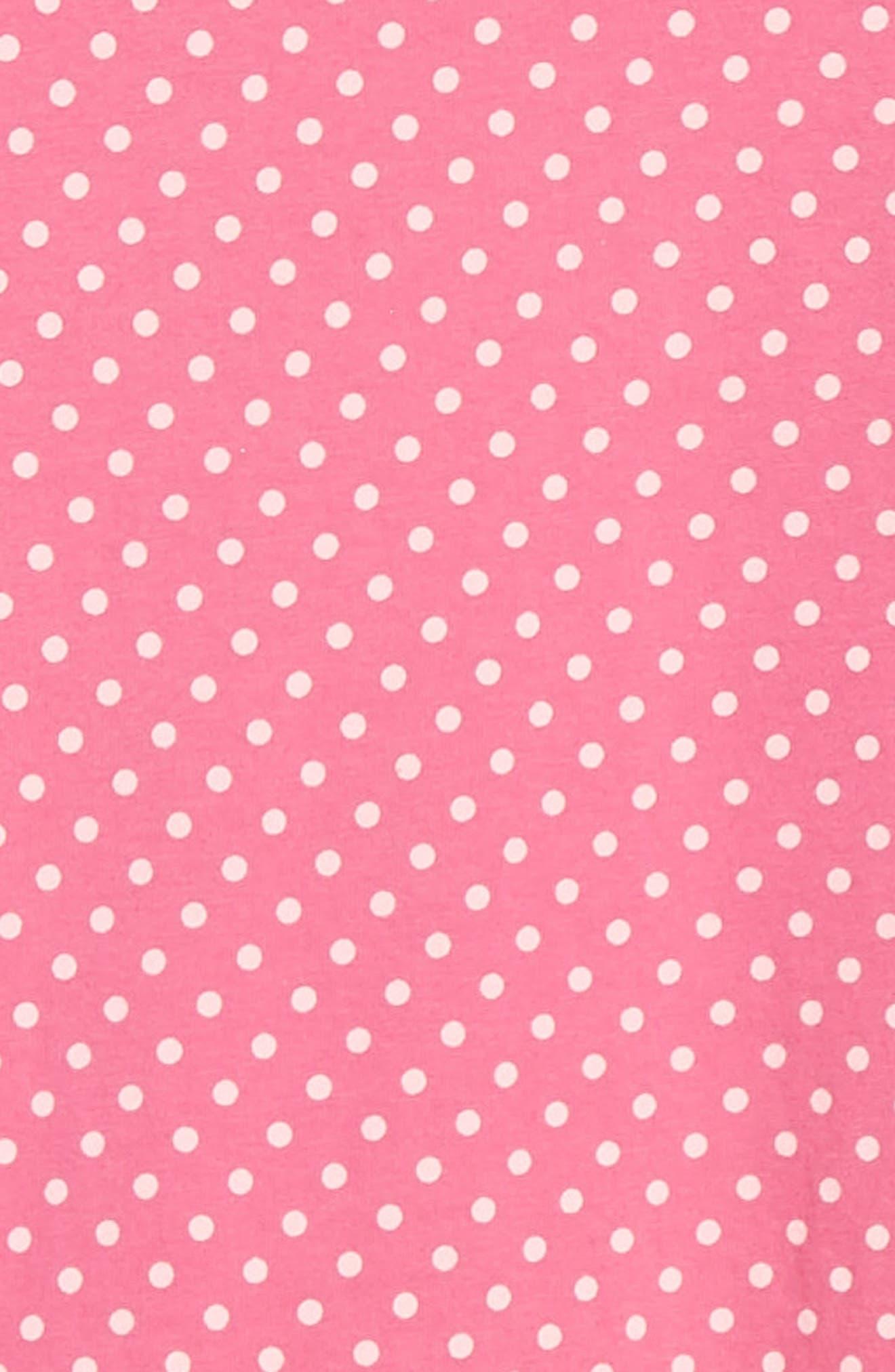 NIKE,                             Polka Dot Drop Waist Dress,                             Alternate thumbnail 3, color,                             LASER FUSCHIA
