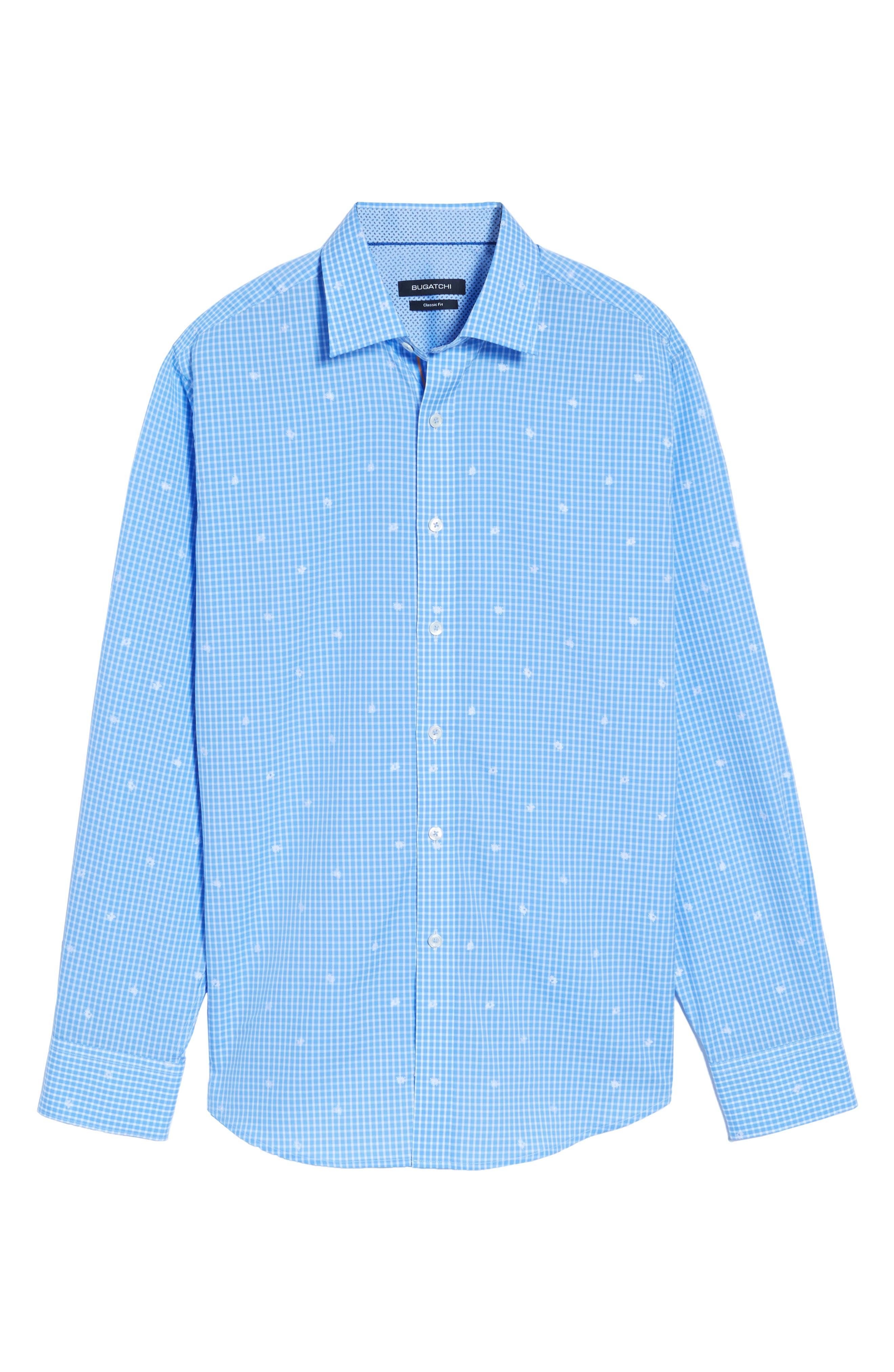 Classic Fit Windowpane Sport Shirt,                             Alternate thumbnail 6, color,