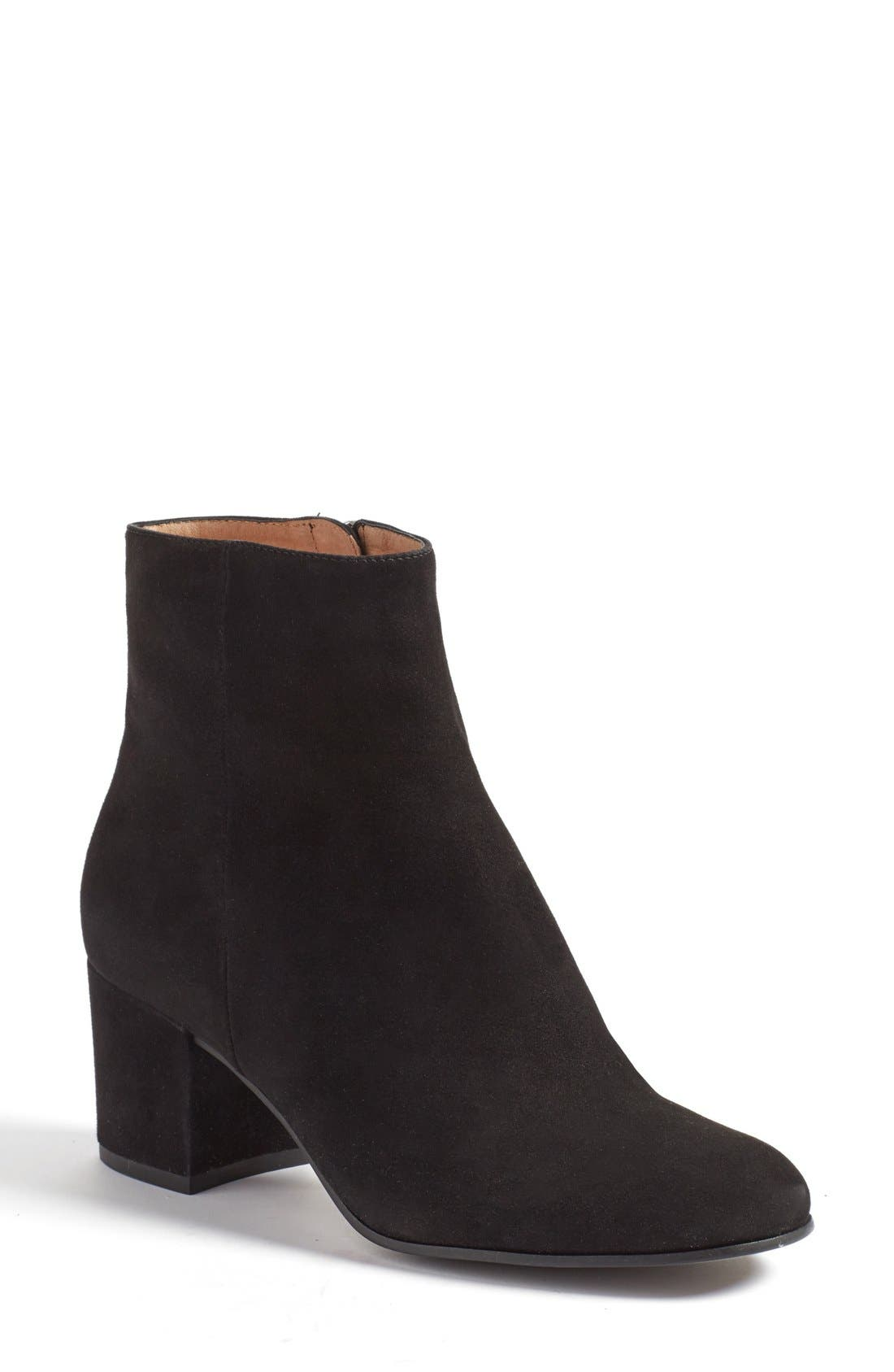 'Cori' Round Toe Bootie,                             Main thumbnail 1, color,                             001
