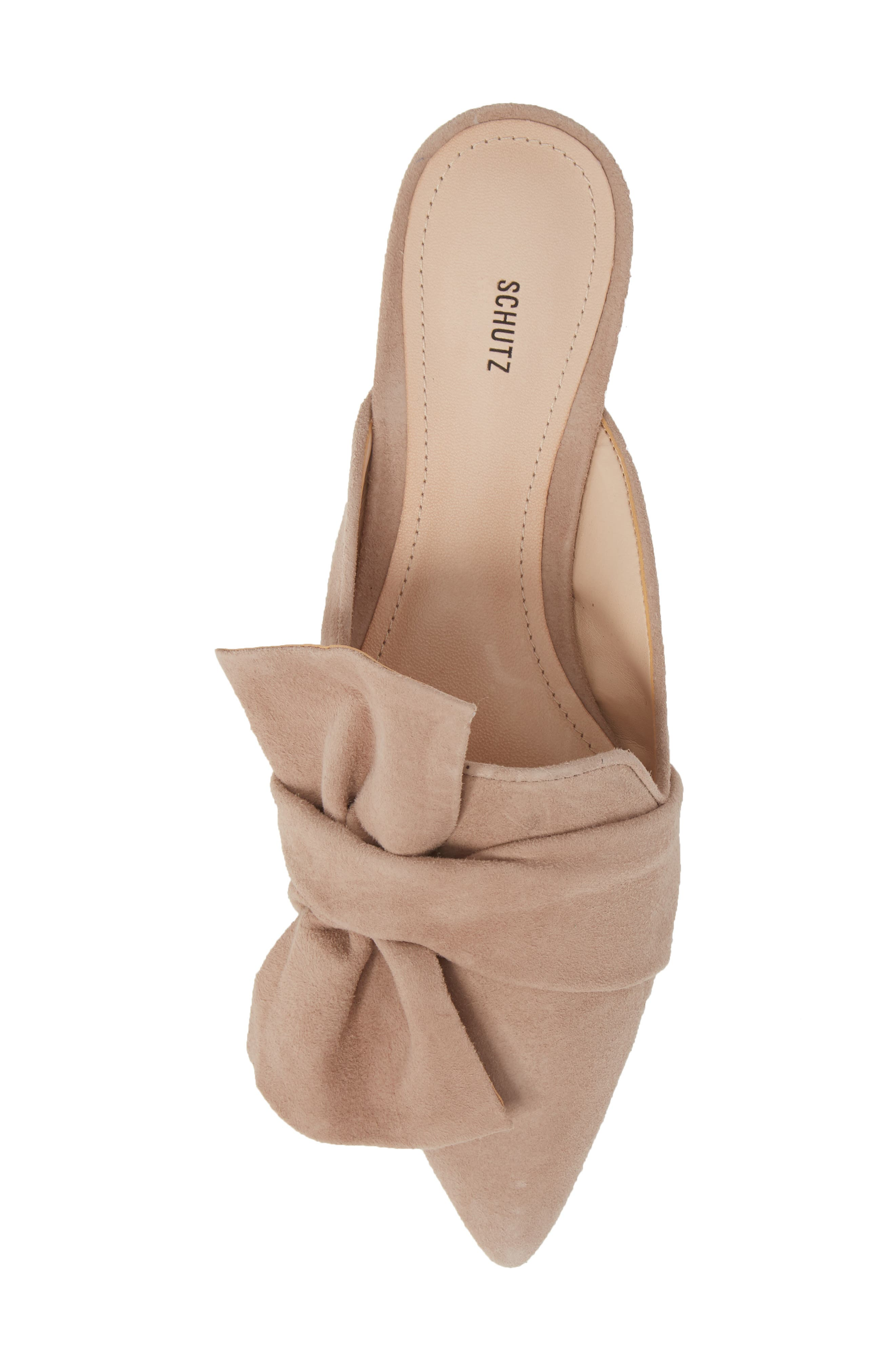 D'Ana Knotted Loafer Mule,                             Alternate thumbnail 5, color,                             NEUTRAL SUEDE
