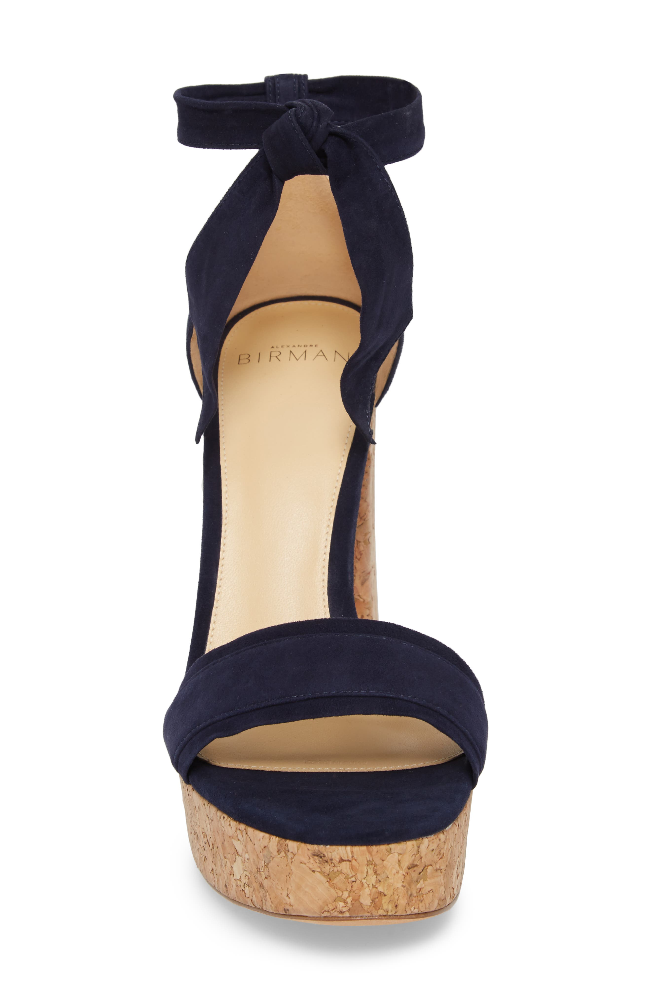 Celine Ankle Tie Platform Sandal,                             Alternate thumbnail 4, color,                             400