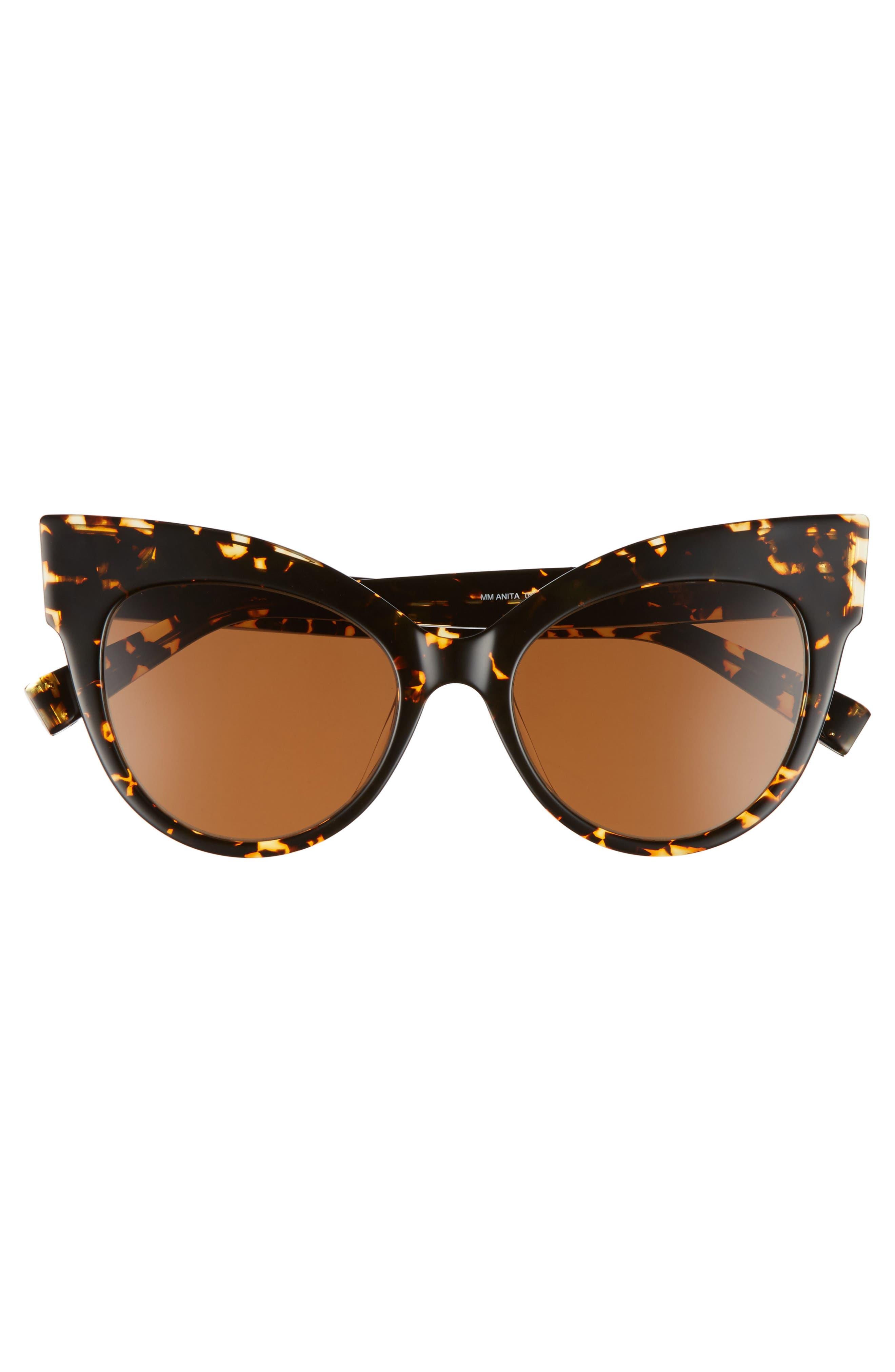 Anita 52mm Cat Eye Sunglasses,                             Alternate thumbnail 10, color,