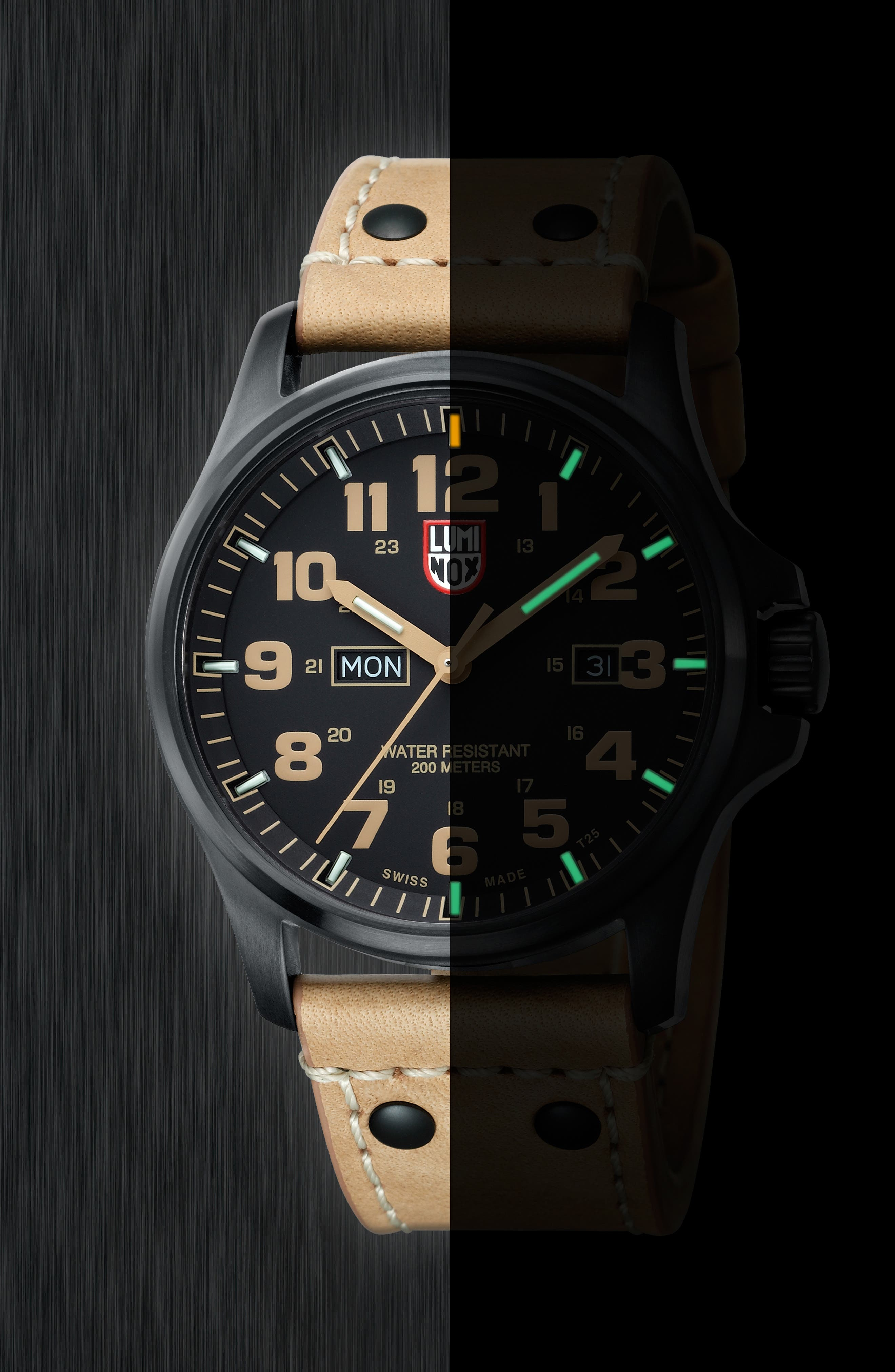 'Land - Atacama Field' Leather Strap Watch, 45mm,                             Alternate thumbnail 11, color,