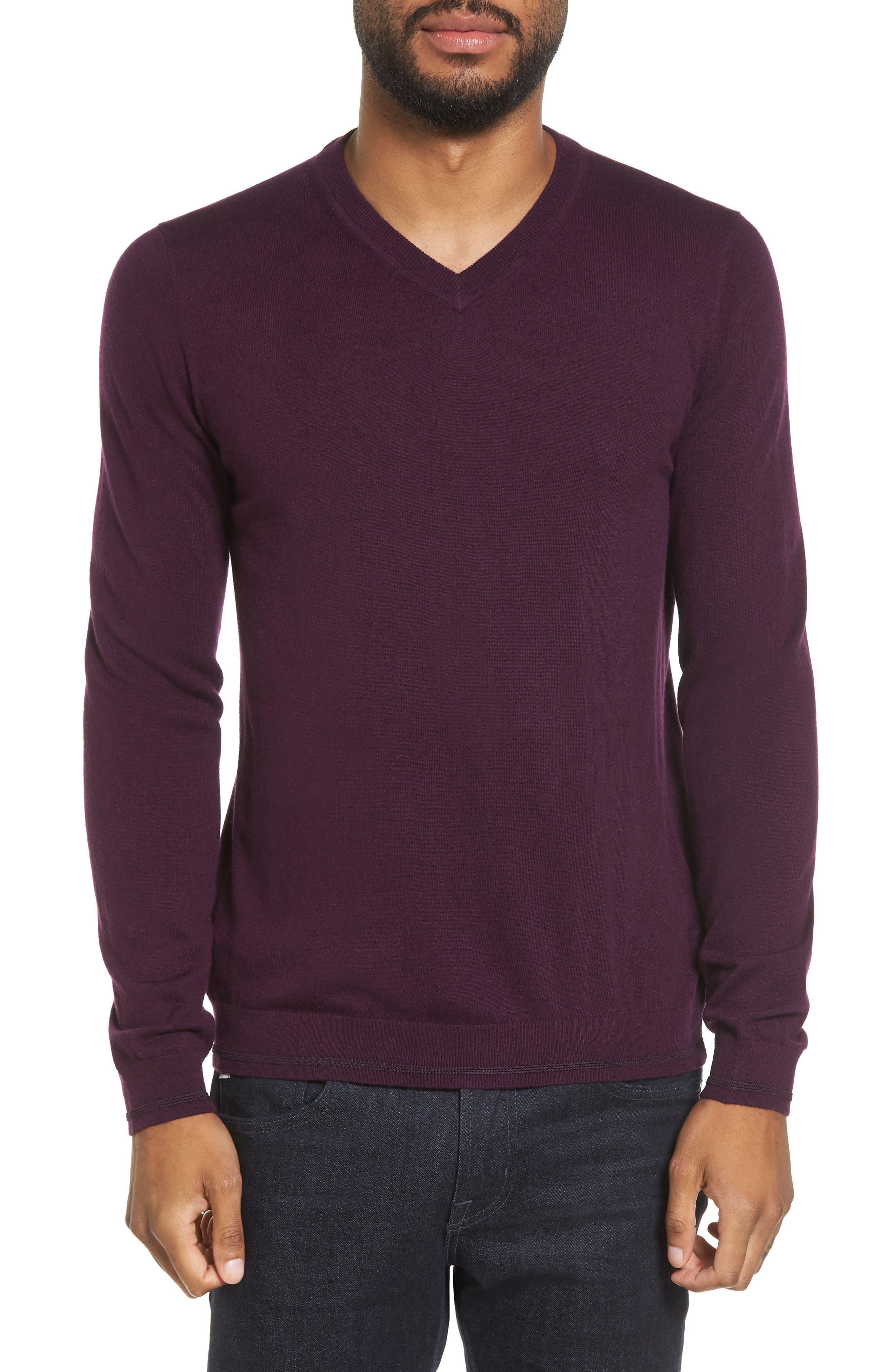 V-Neck Sweater,                             Main thumbnail 4, color,