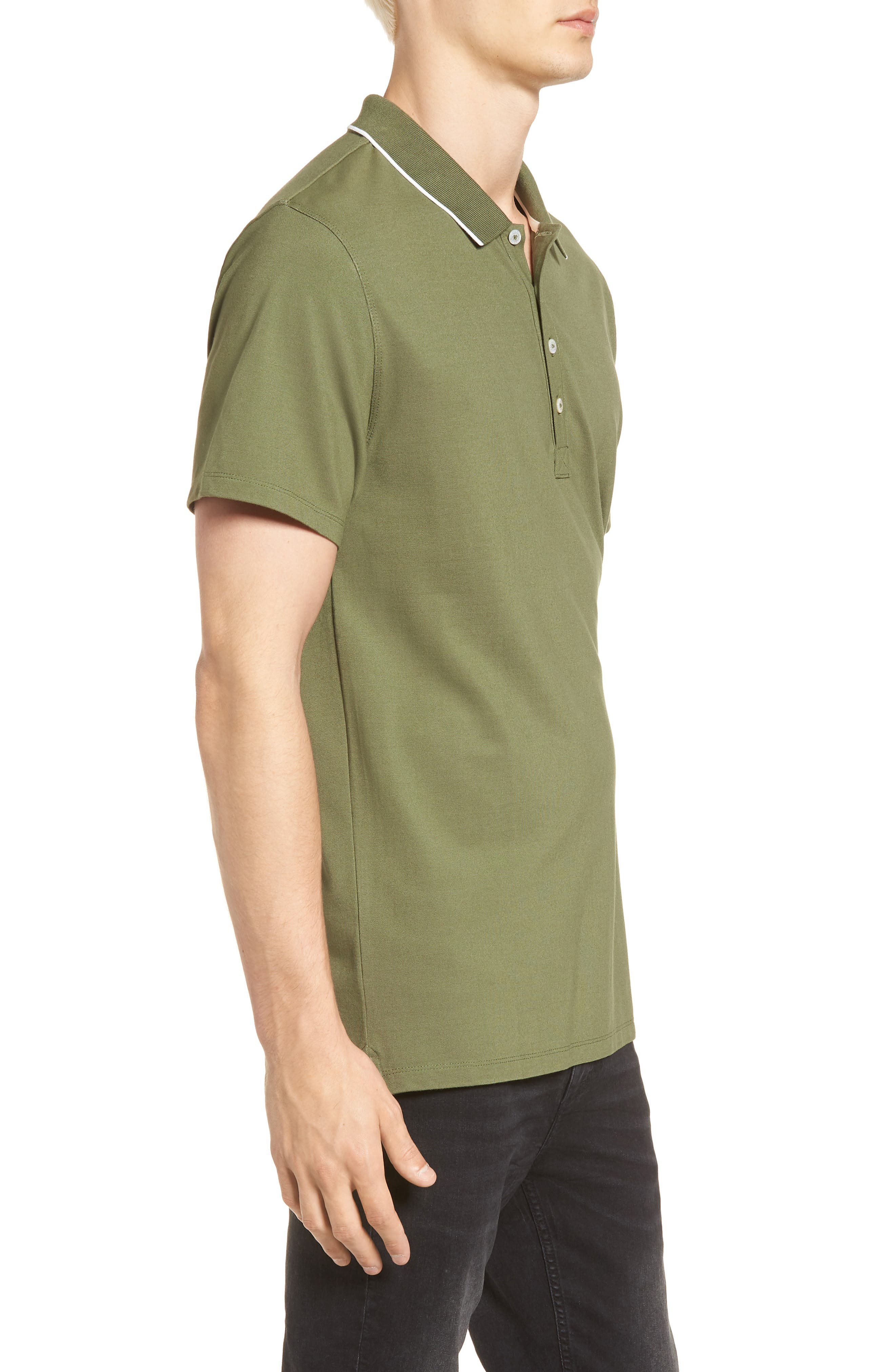 Premium Tipped Polo,                             Alternate thumbnail 3, color,                             310