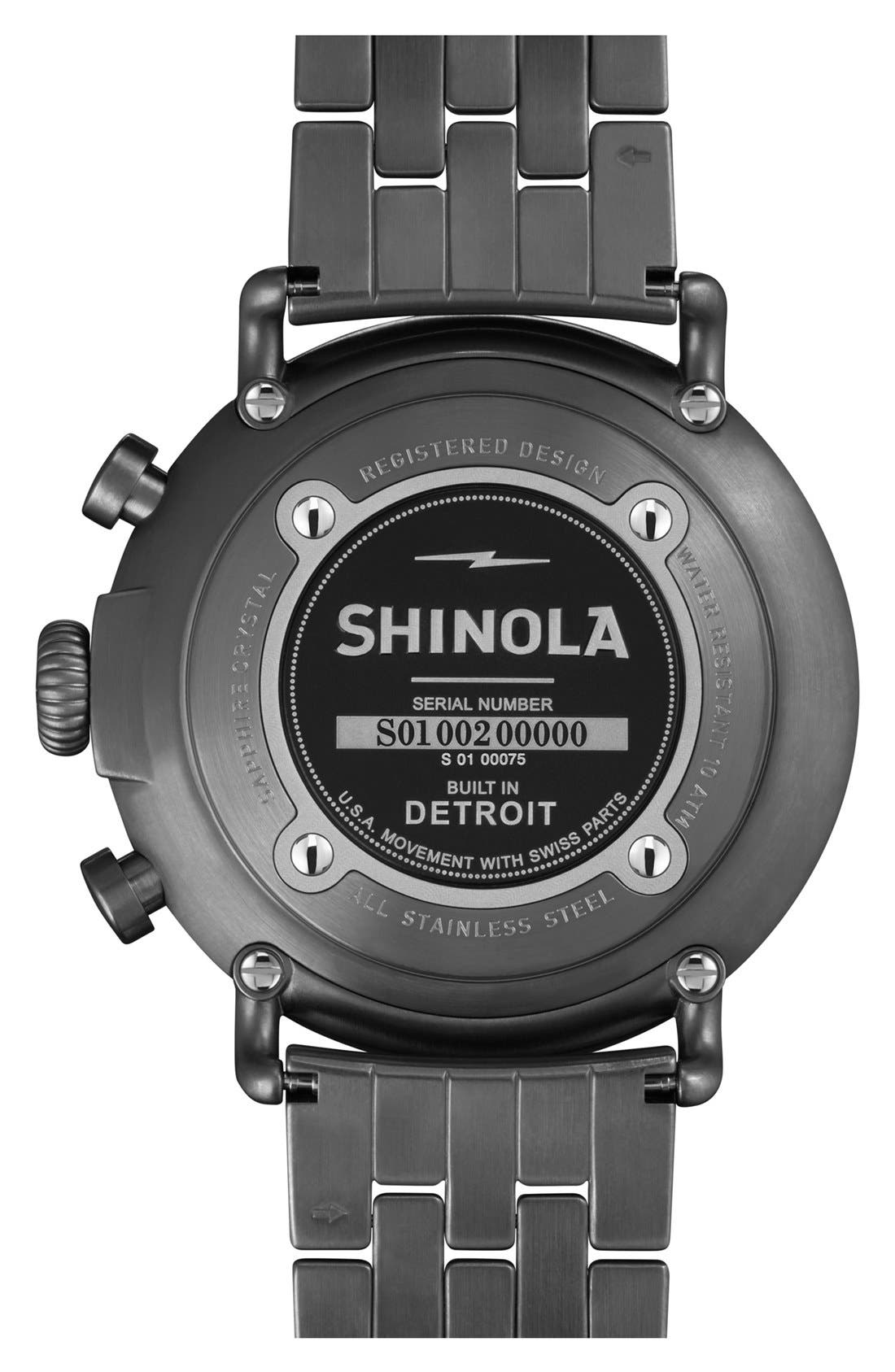SHINOLA,                             The Runwell Contrast Chrono Bracelet Watch, 47mm,                             Alternate thumbnail 2, color,                             020