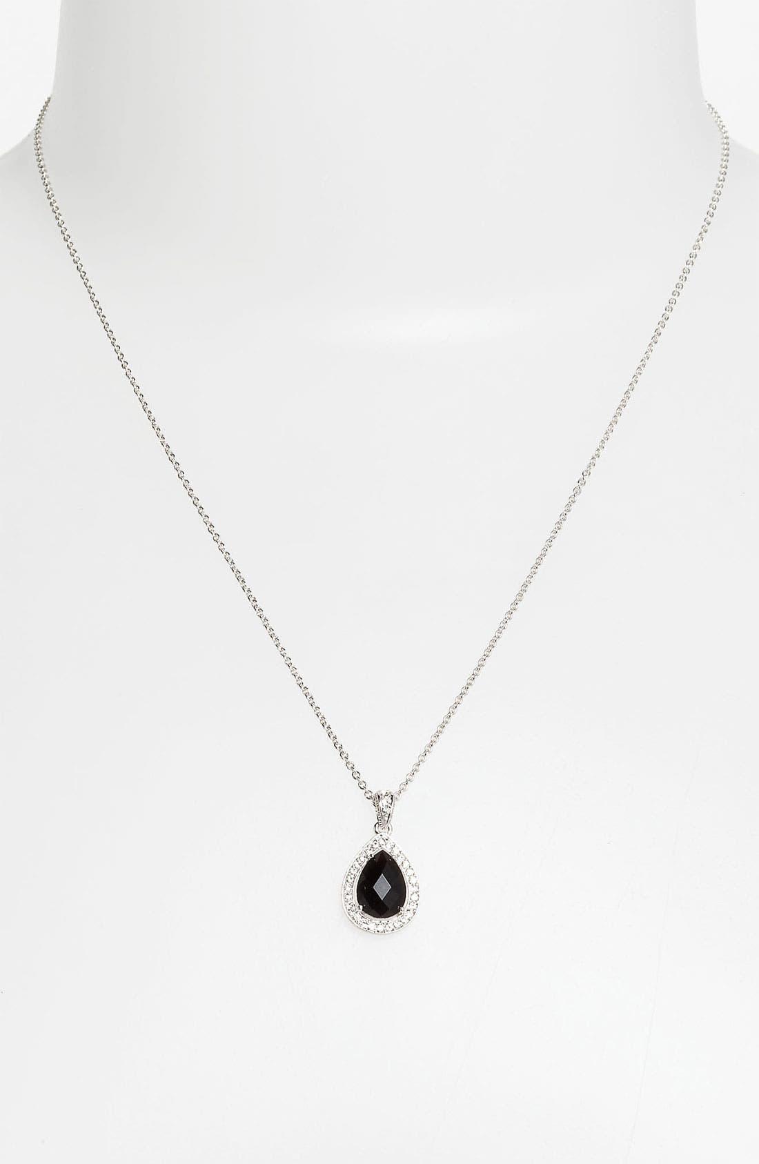 Teardrop Pendant Necklace,                         Main,                         color, 001