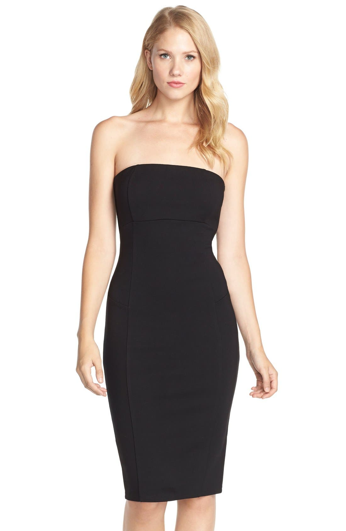 Brianna Strapless Knit Body-Con Dress,                             Main thumbnail 1, color,