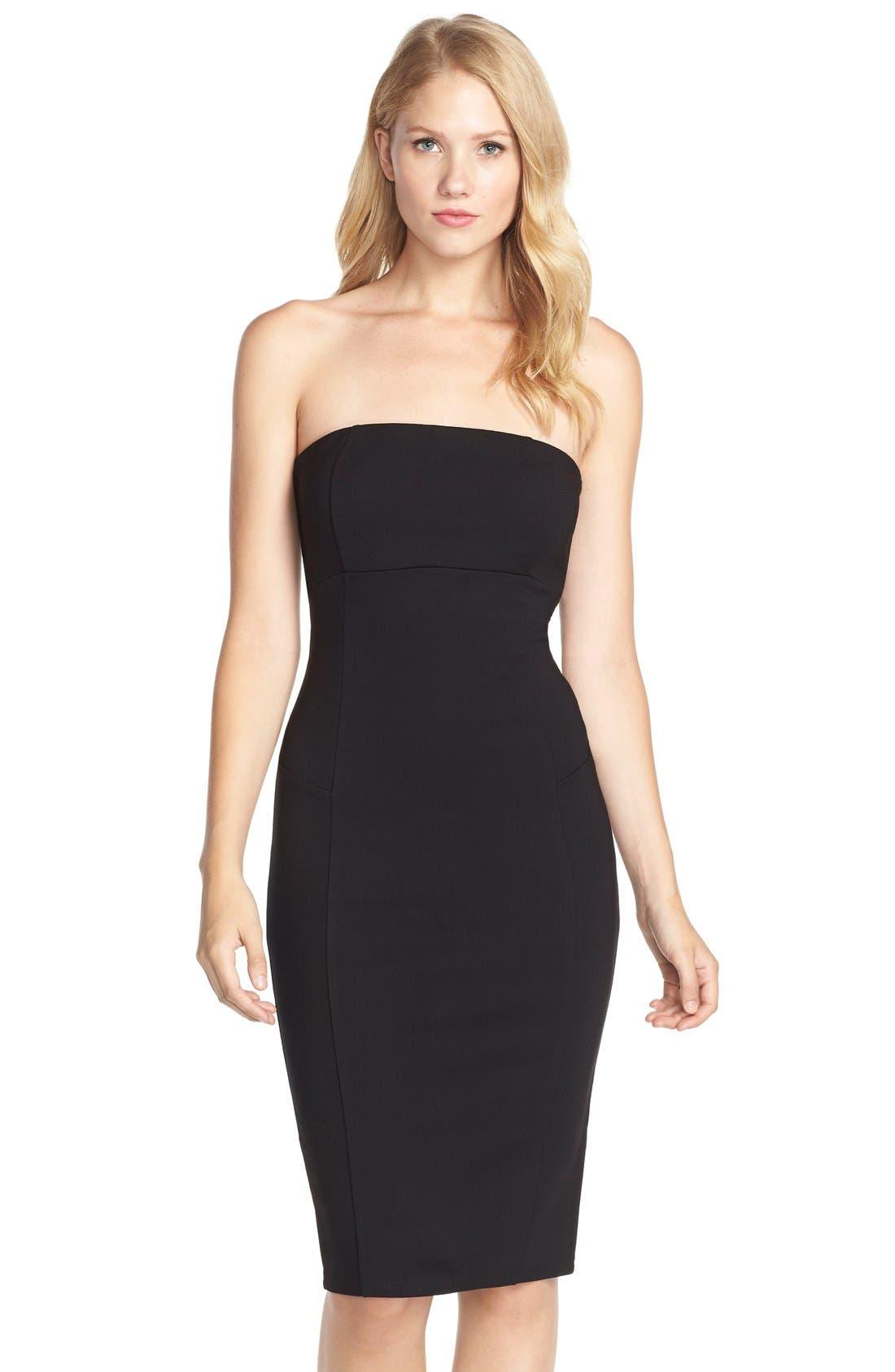 Brianna Strapless Knit Body-Con Dress,                         Main,                         color,
