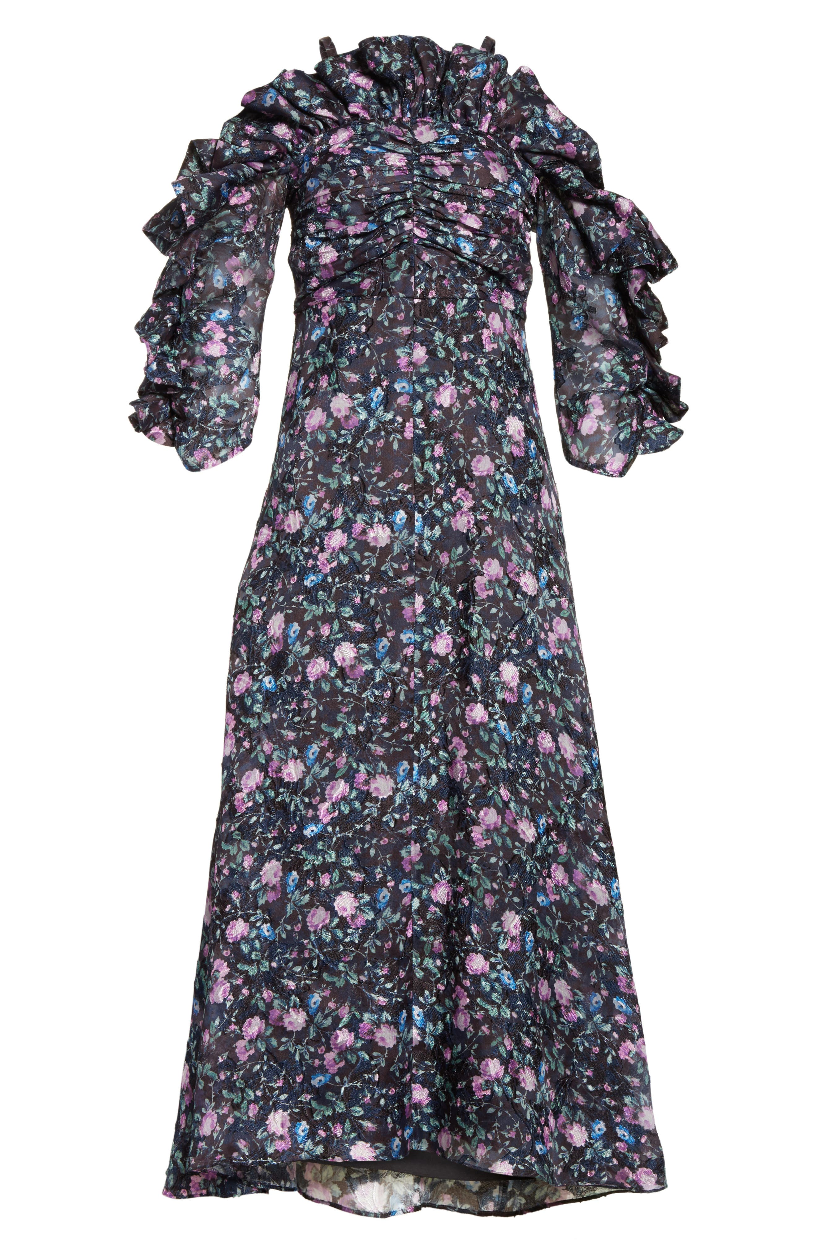 Ruby Organza Midi Dress,                             Alternate thumbnail 6, color,                             497