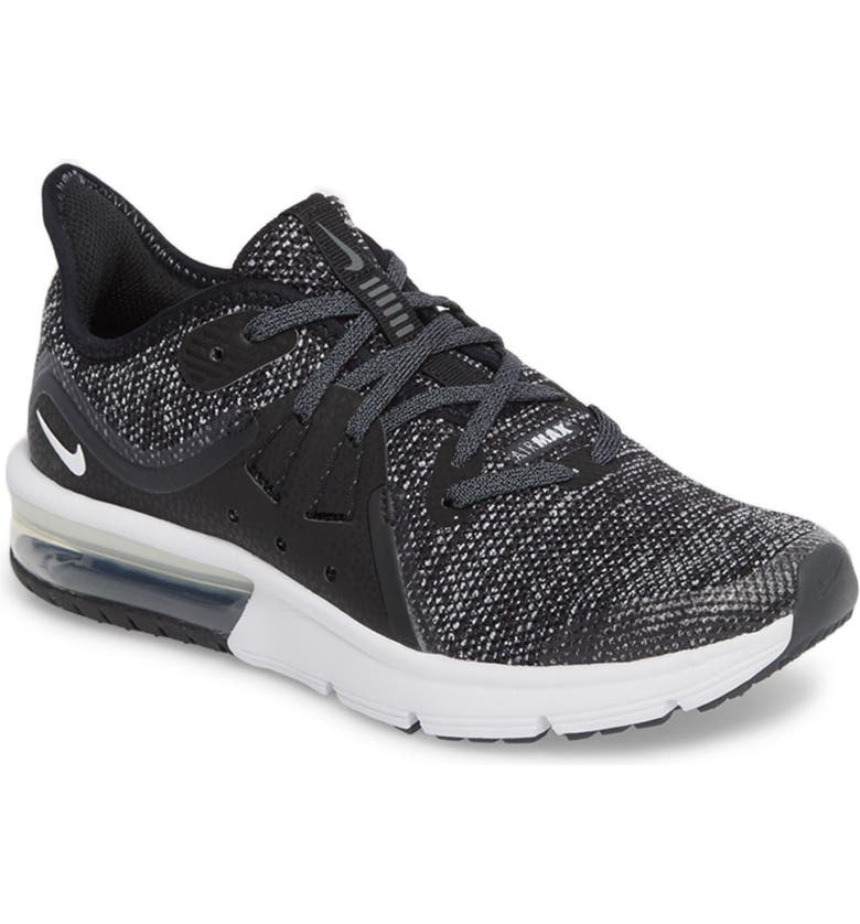 premium selection 2cf4a 96399 NIKE Air Max Sequent 3 GS Running Shoe, Main, color, 001