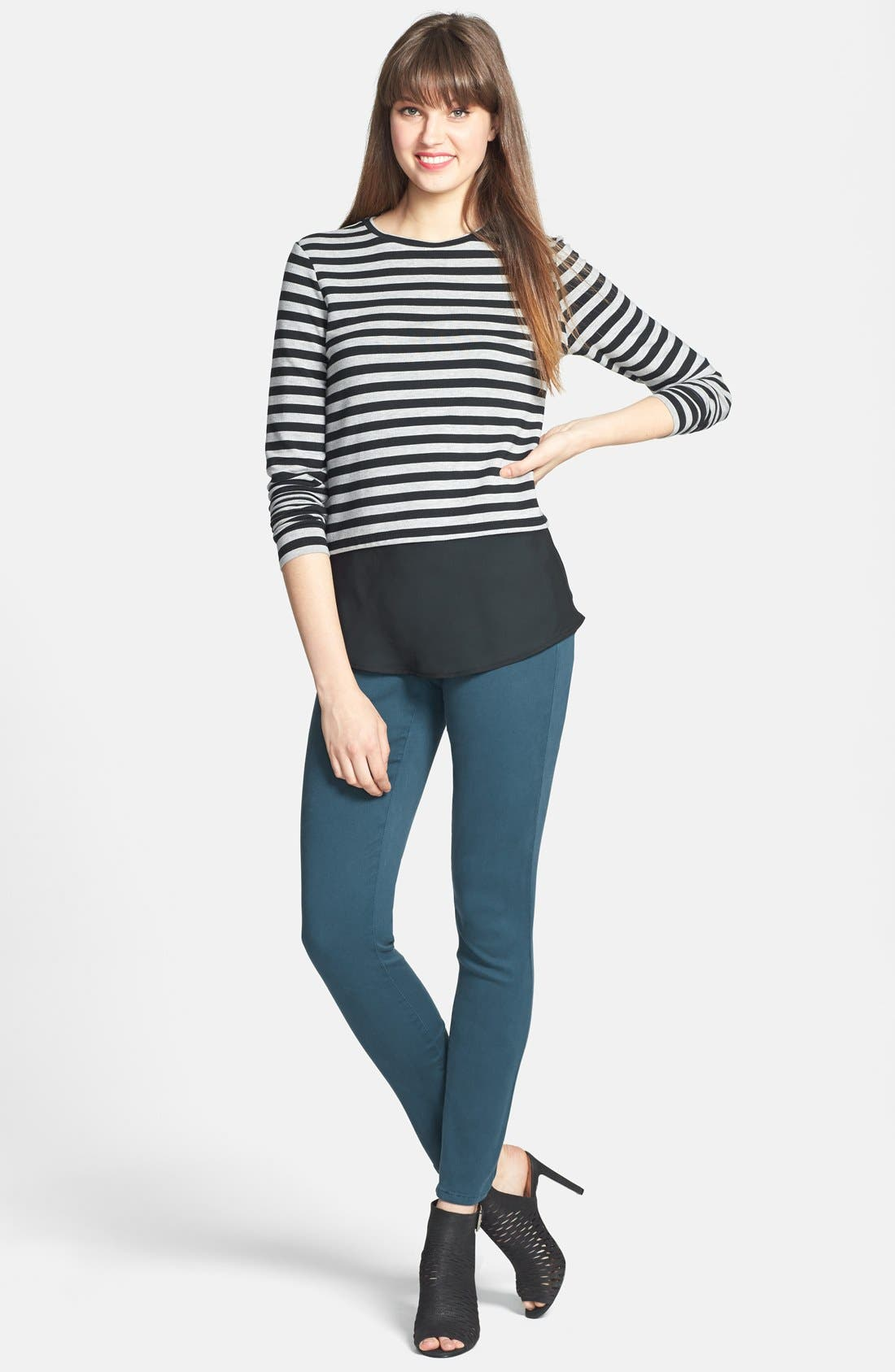 Alina Colored Stretch Skinny Jeans,                             Alternate thumbnail 93, color,
