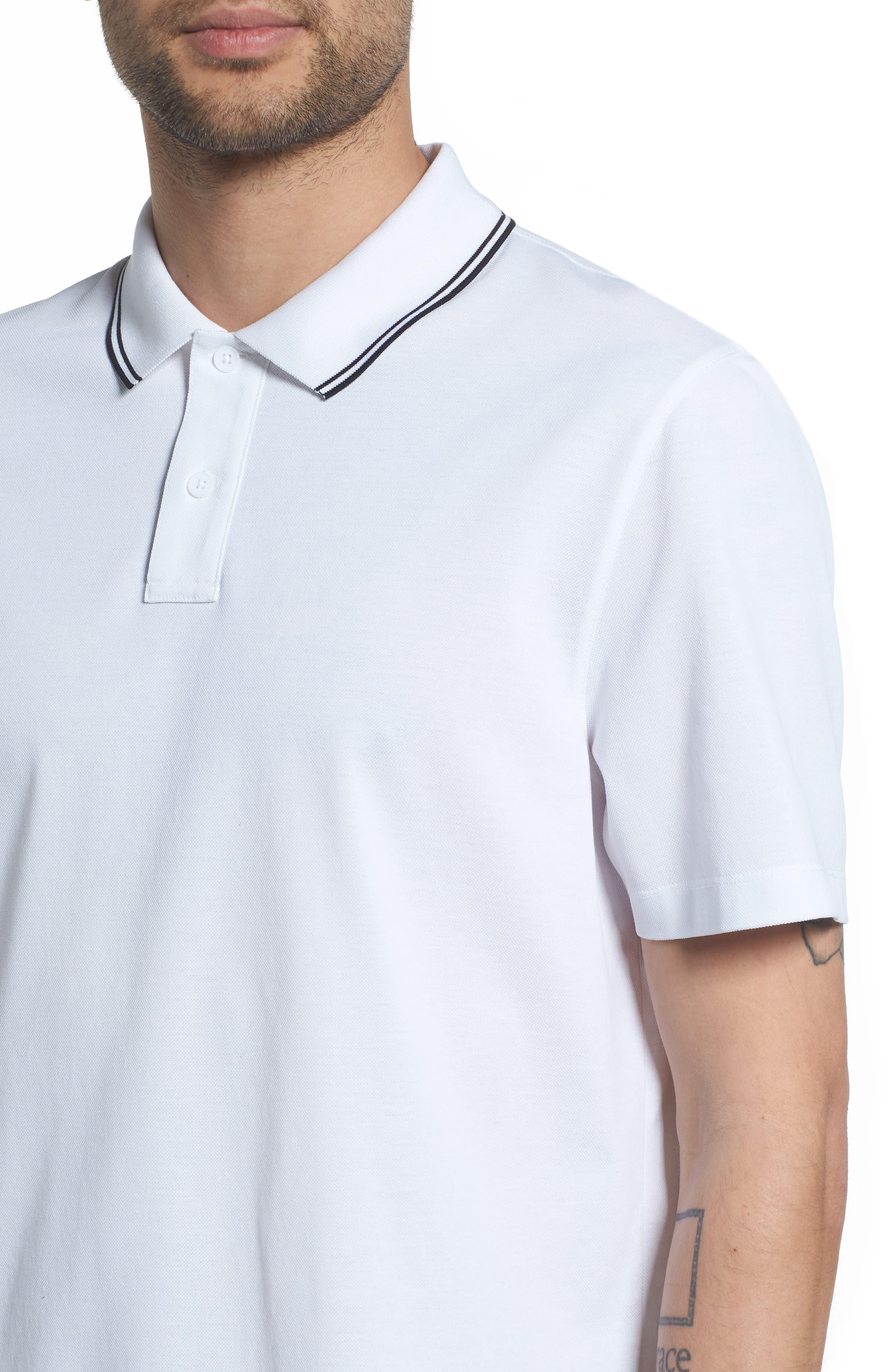 Regular Fit Polo,                             Alternate thumbnail 4, color,                             OPTIC WHITE