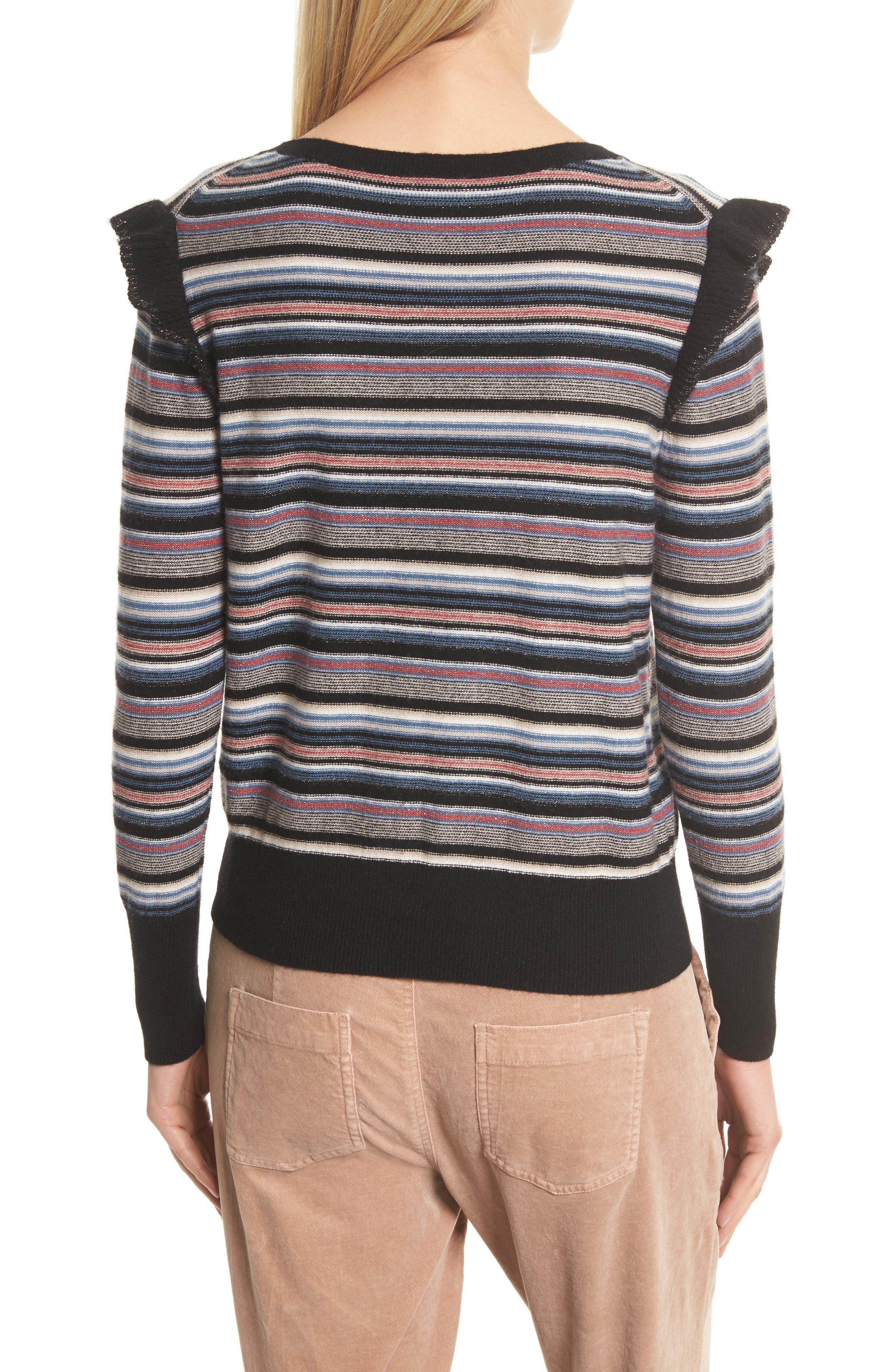 Cais C Stripe Wool & Cashmere Sweater,                             Alternate thumbnail 2, color,                             001