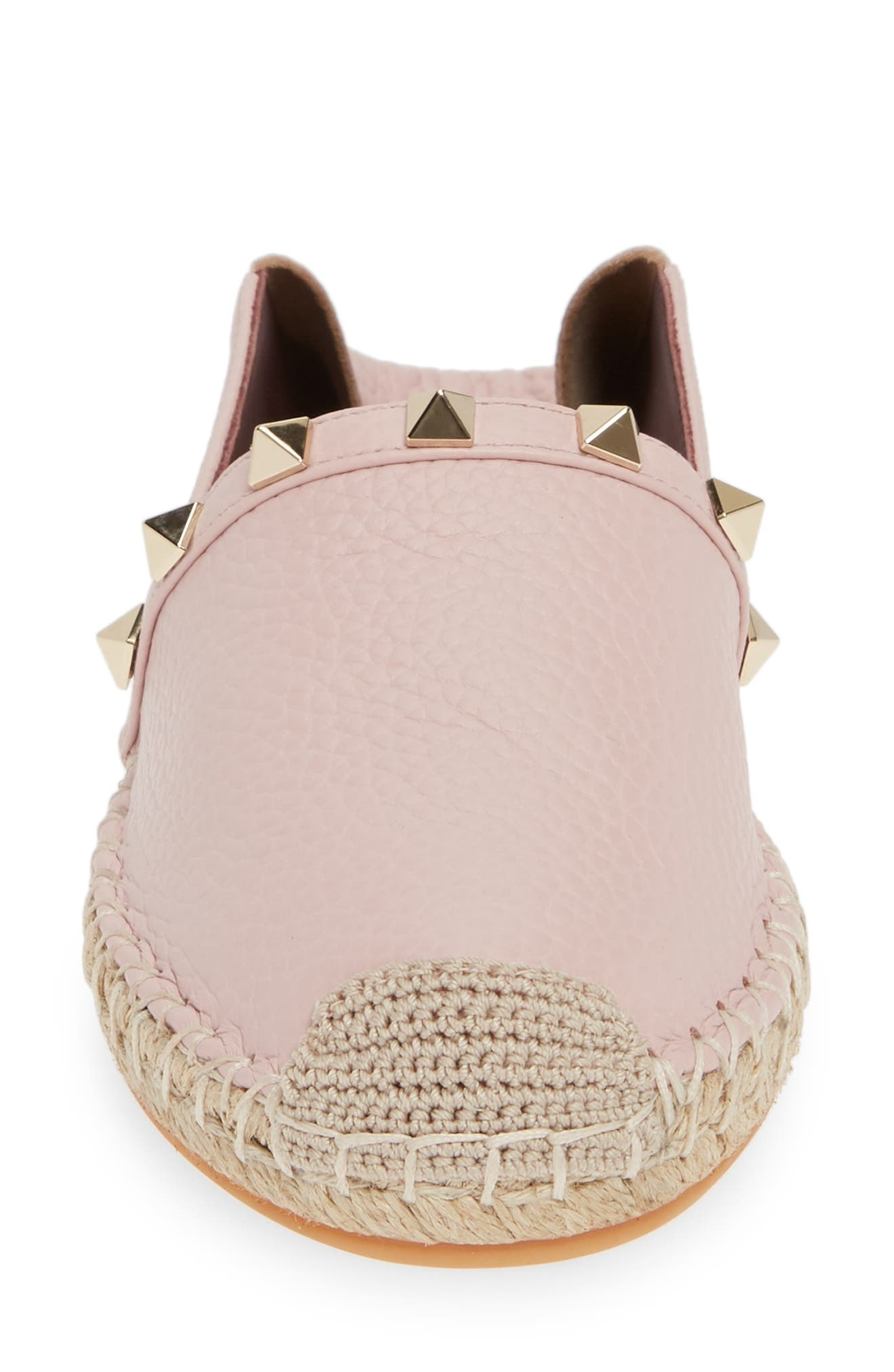 VALENTINO GARAVANI,                             Rockstud Espadrille,                             Alternate thumbnail 5, color,                             WATER ROSE