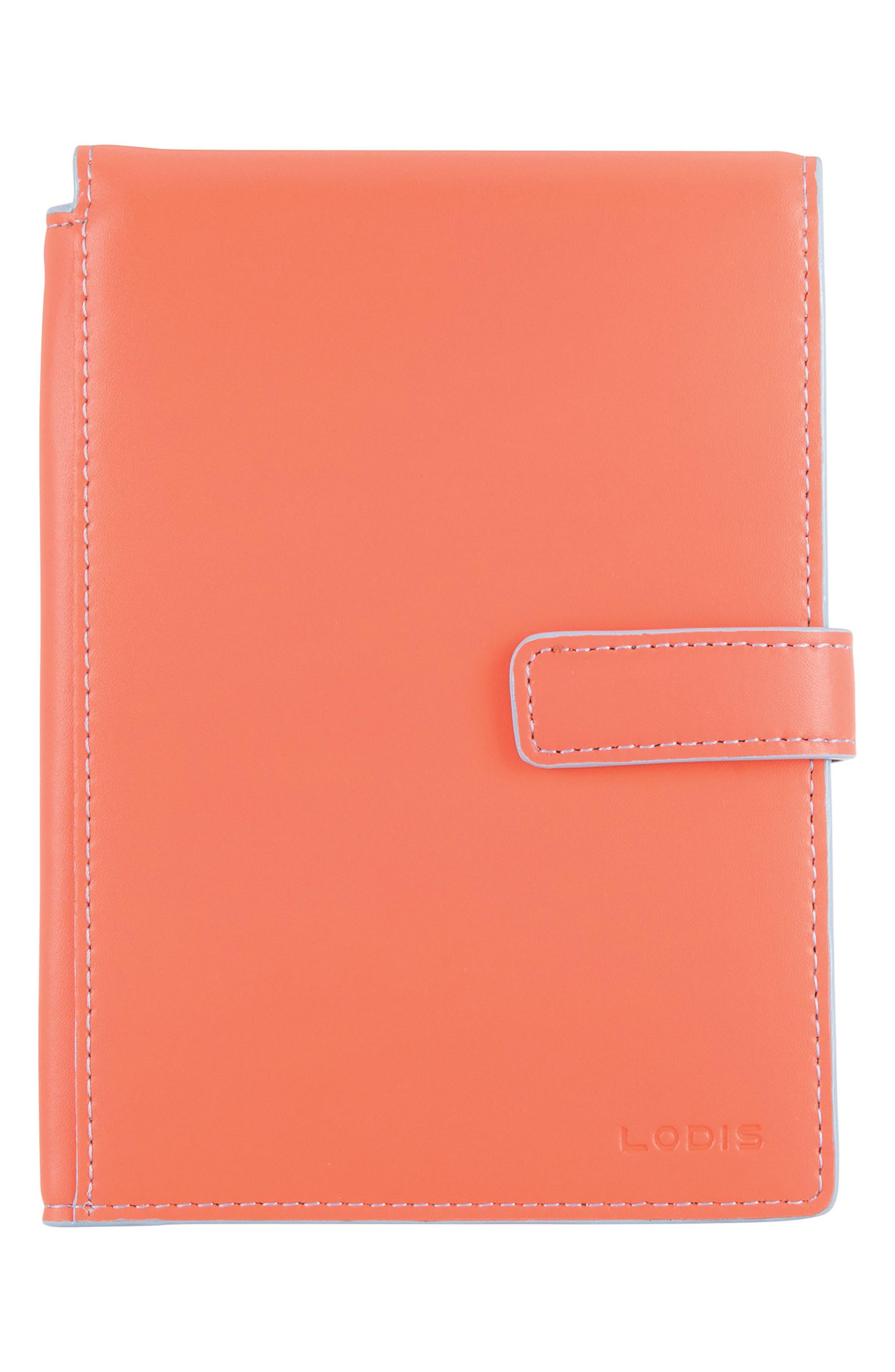 Audrey RFID Leather Passport Wallet,                             Main thumbnail 4, color,