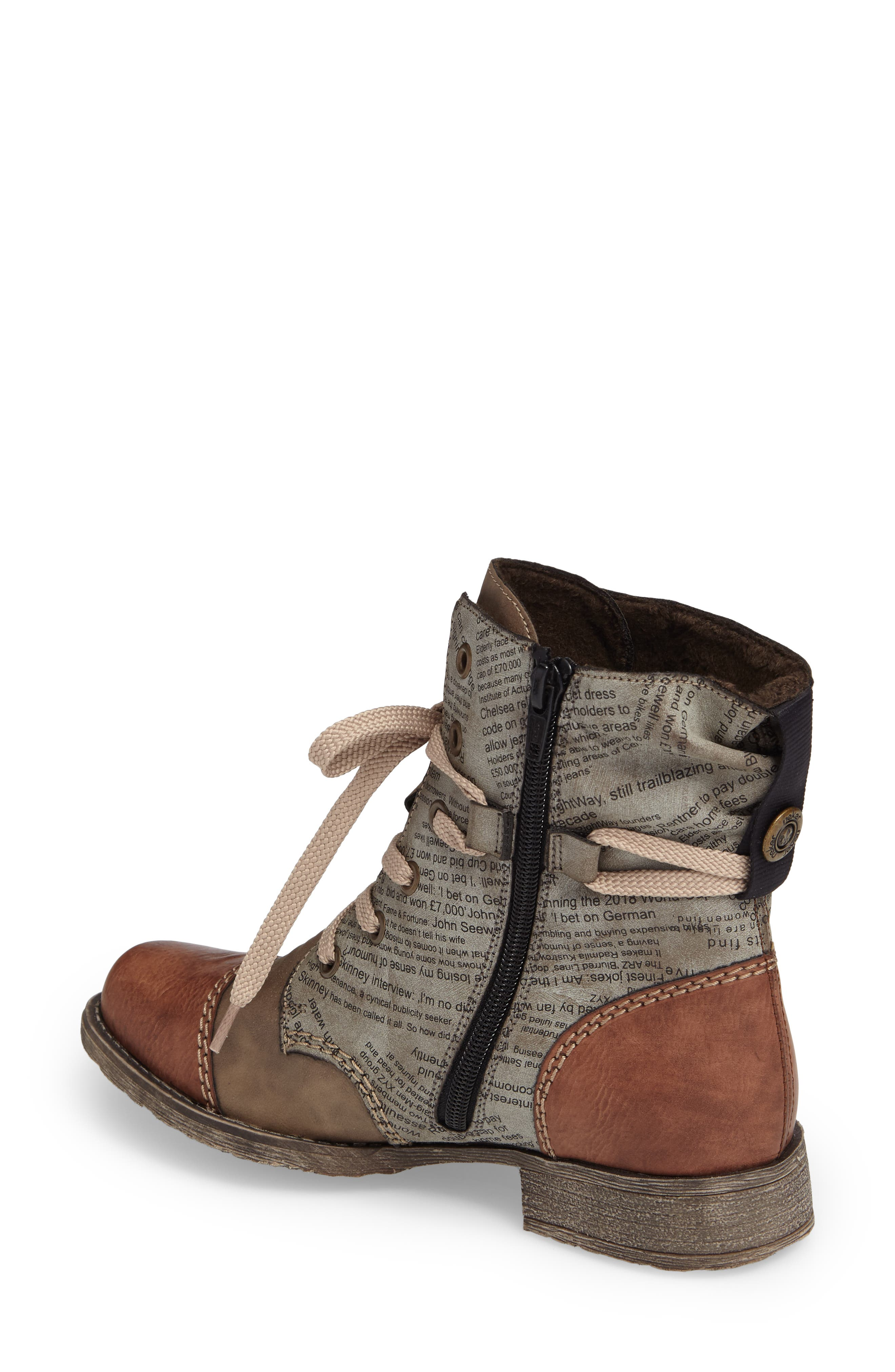 Payton 22 Lace-Up Boot,                             Alternate thumbnail 2, color,                             BRANDY/ CIGAR FAUX LEATHER