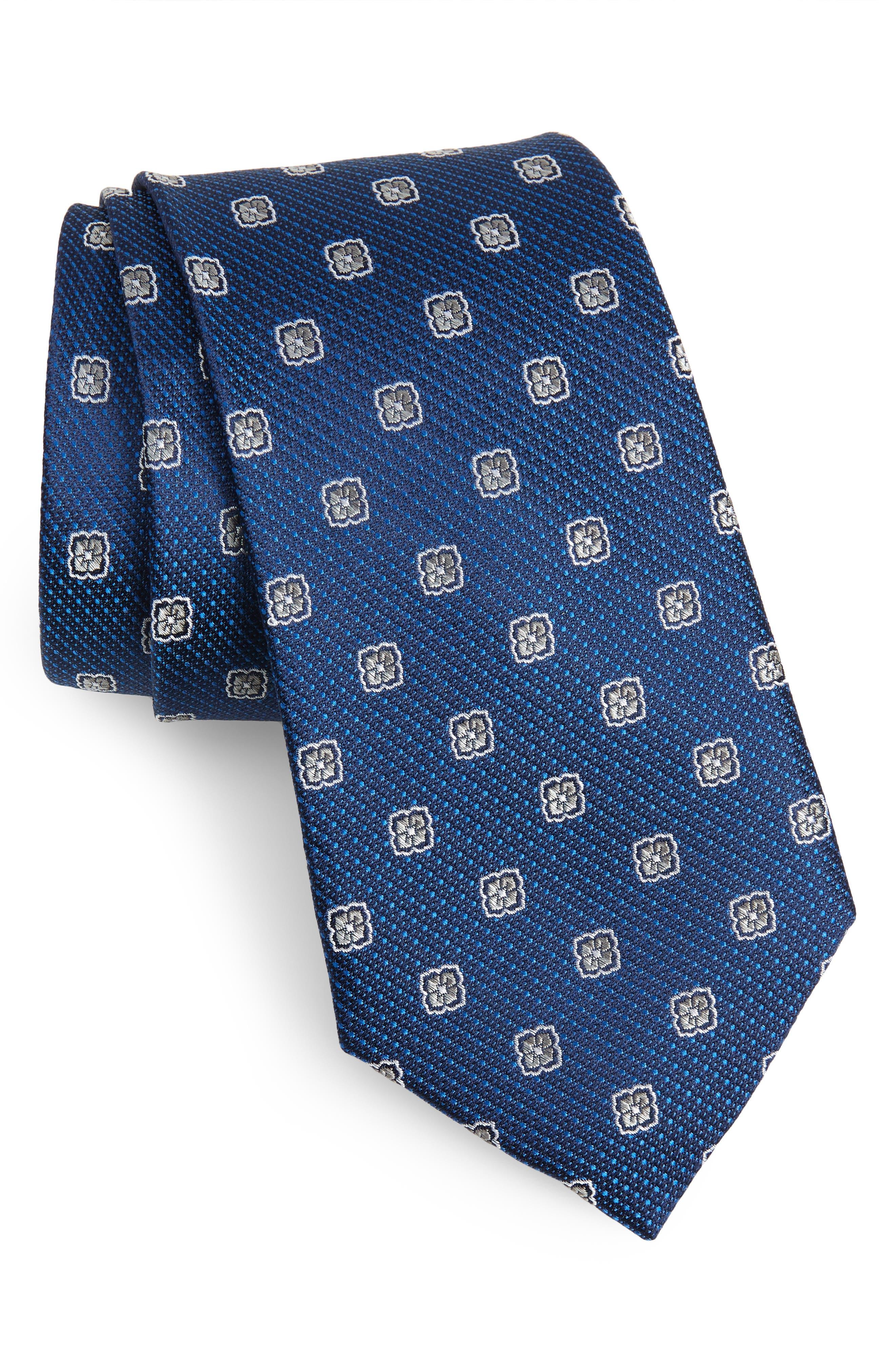 Leary Medallion Silk Tie,                             Main thumbnail 2, color,