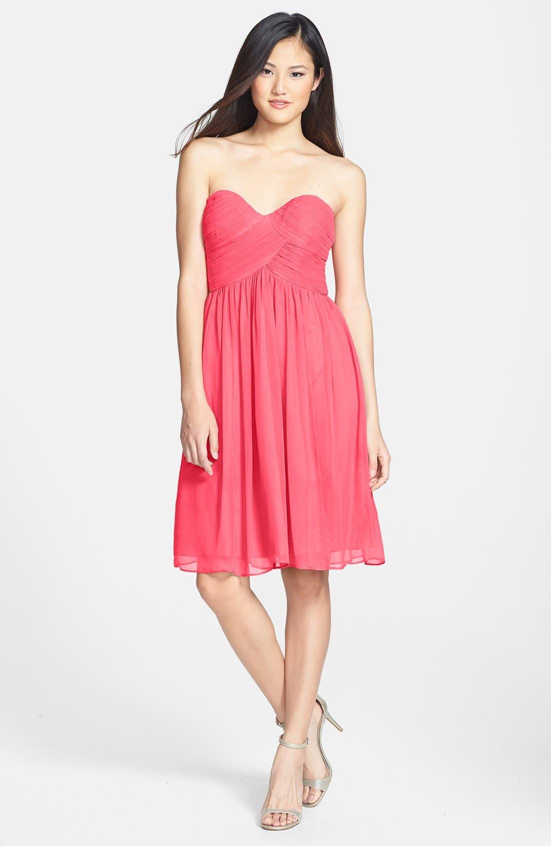 'Morgan' Strapless Silk Chiffon Dress,                             Alternate thumbnail 93, color,