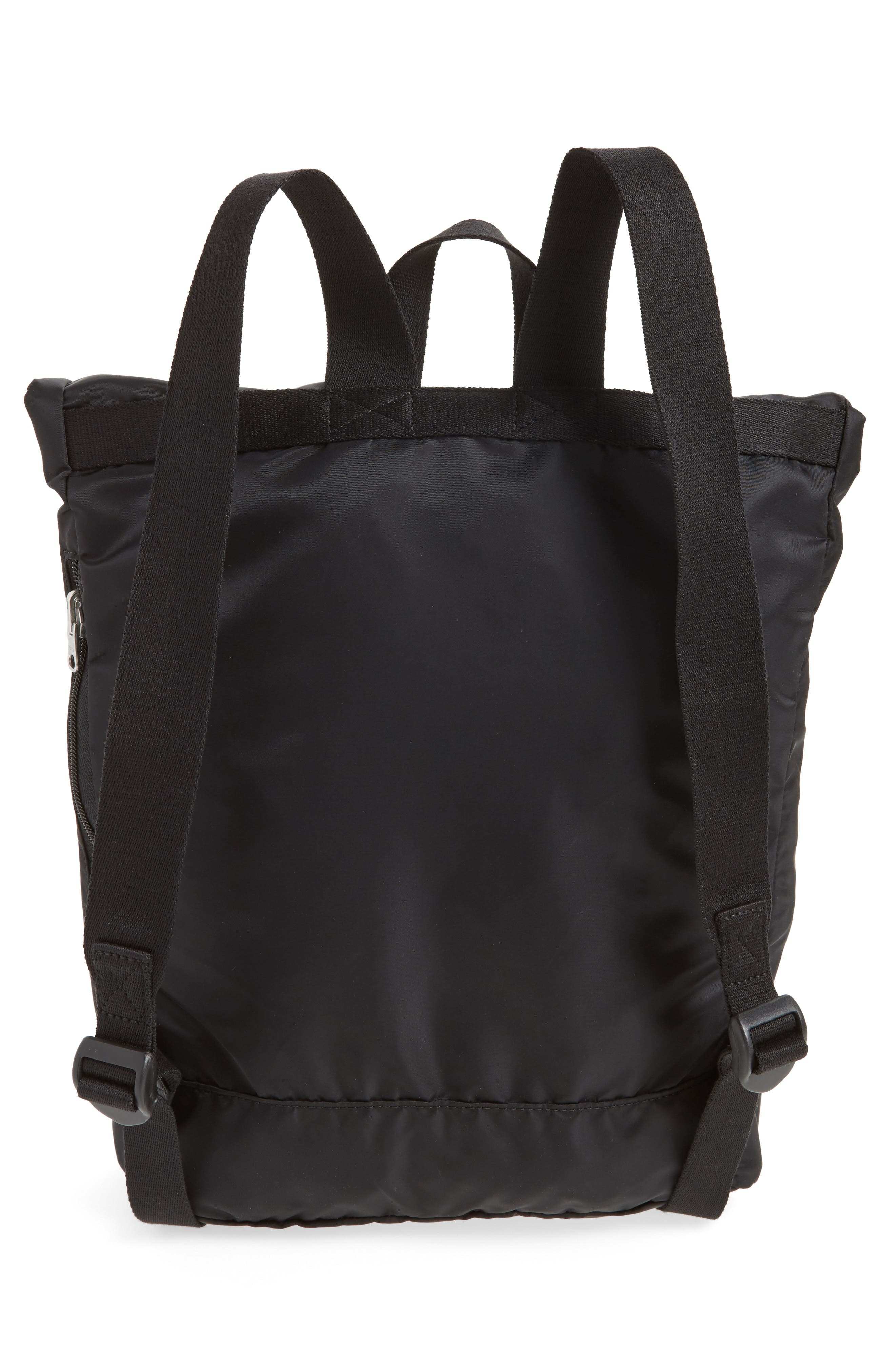 Bond Heights Packable Nylon Backpack,                             Alternate thumbnail 3, color,                             001