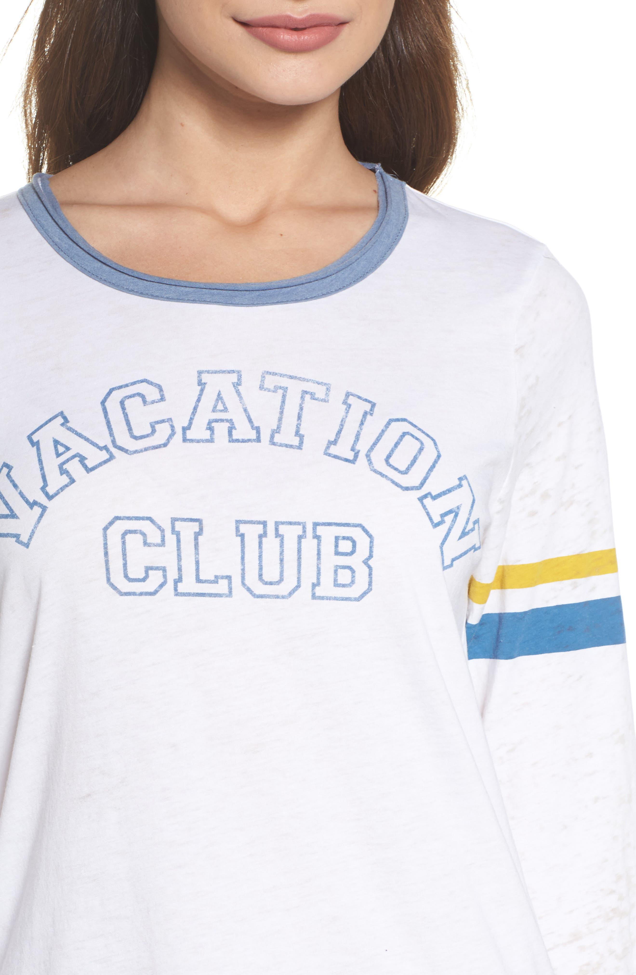 Vacation Club Vintage Tee,                             Alternate thumbnail 4, color,                             100