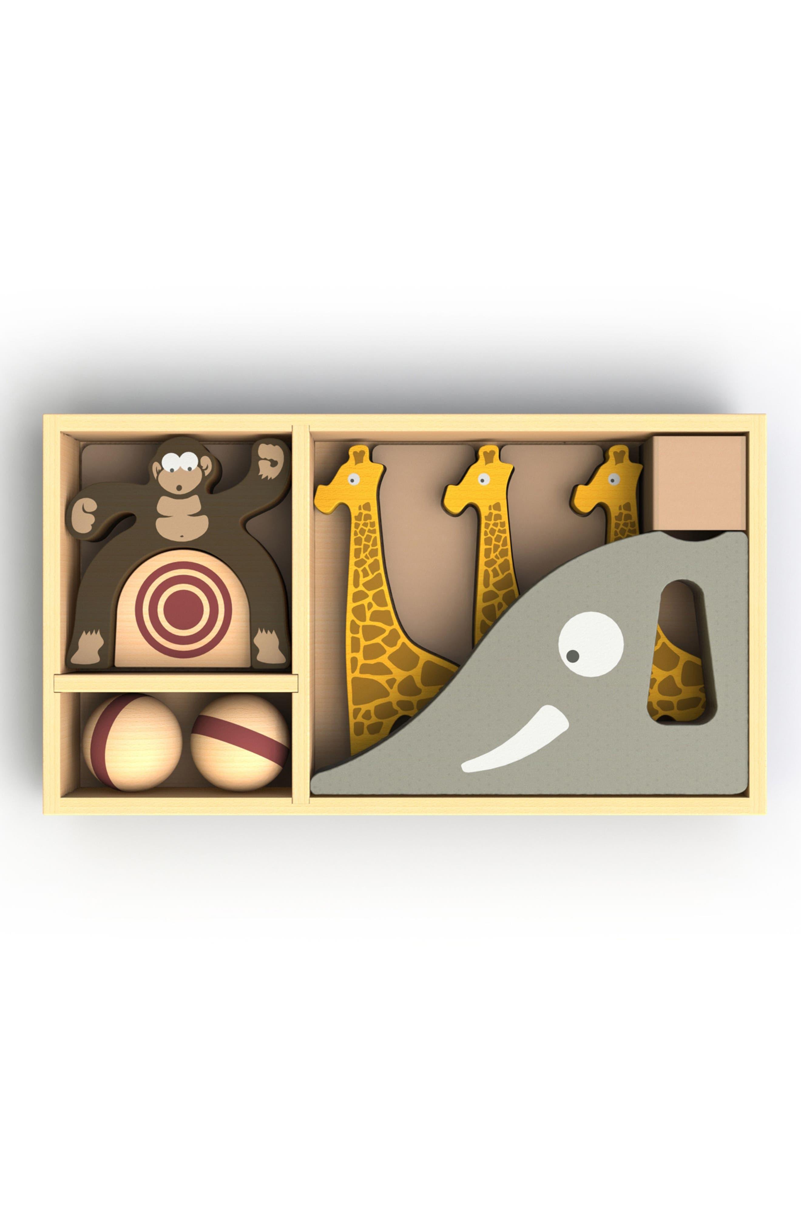 BeginAgain Safari Bowl 11-Piece Play Set,                             Alternate thumbnail 2, color,                             200