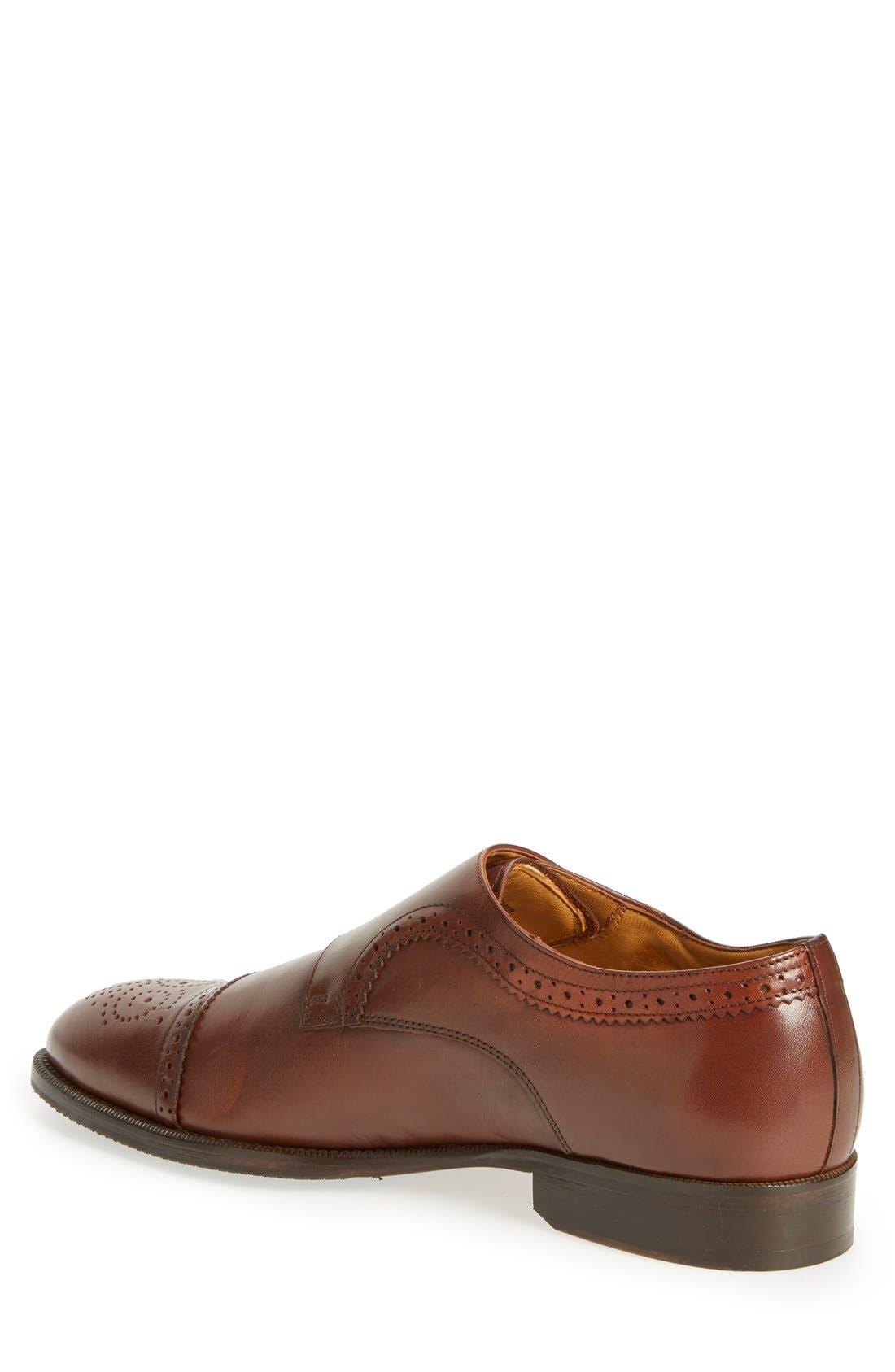 'Briant' Double Monk Strap Shoe,                             Alternate thumbnail 6, color,