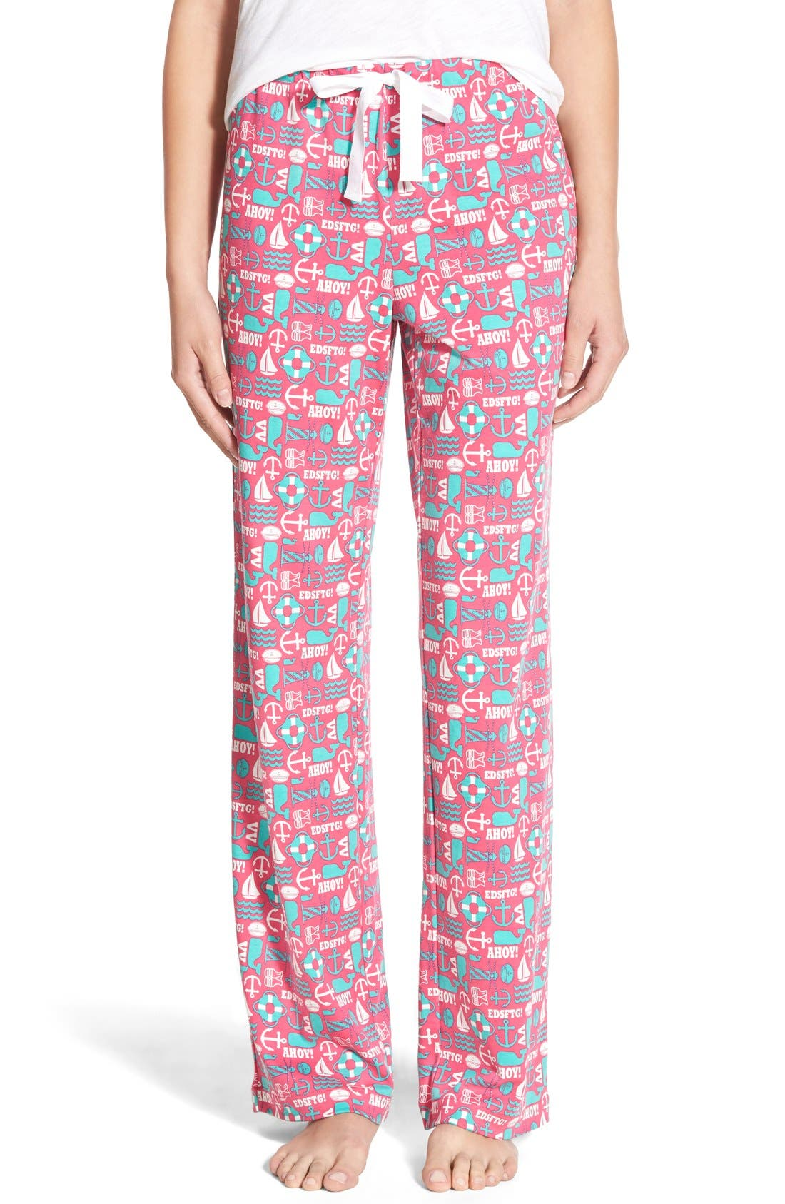VINEYARD VINES 'Nautical Icon' Cotton Lounge Pants, Main, color, 658