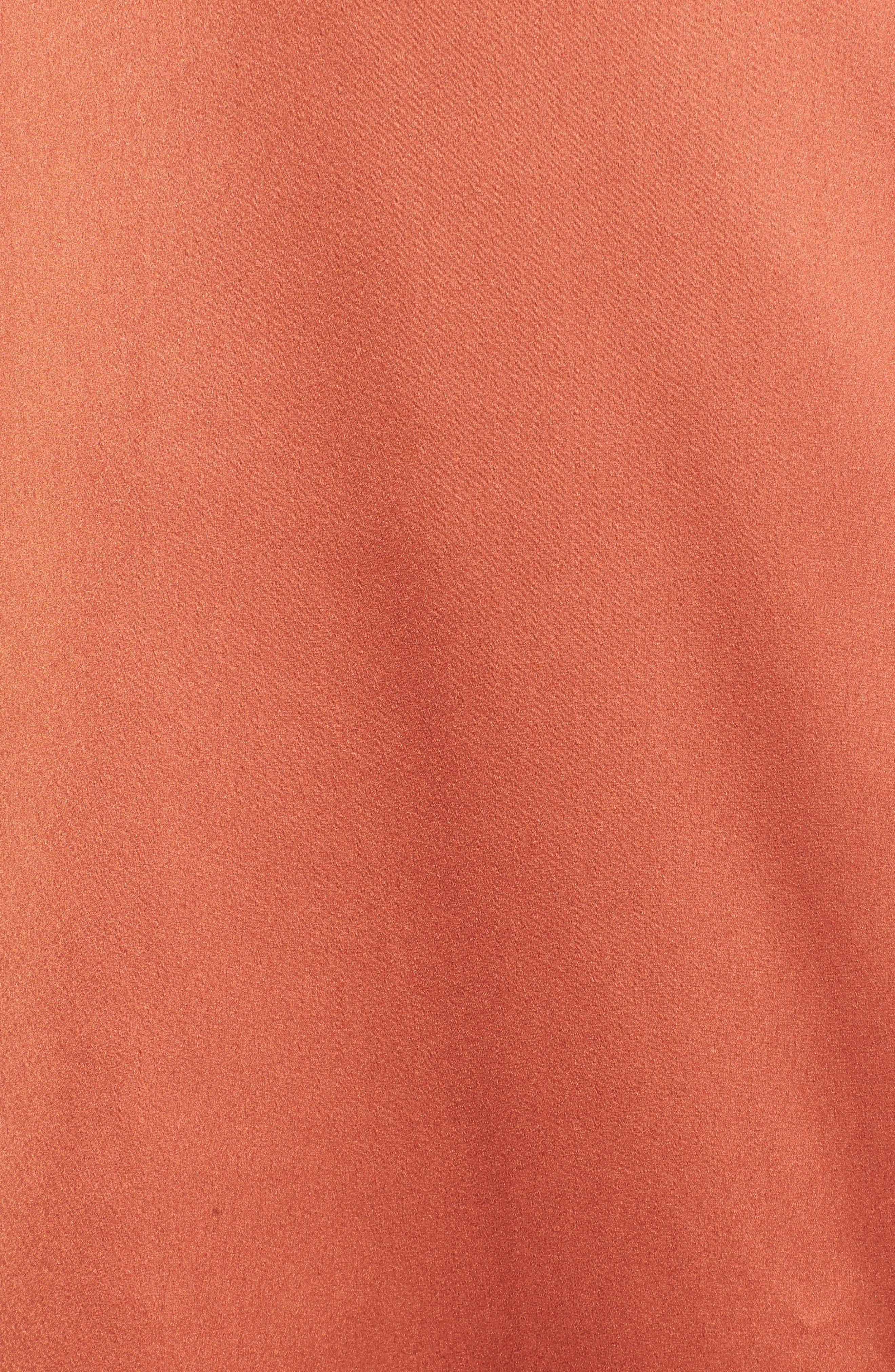 Satin Wrap Dress,                             Alternate thumbnail 5, color,                             201